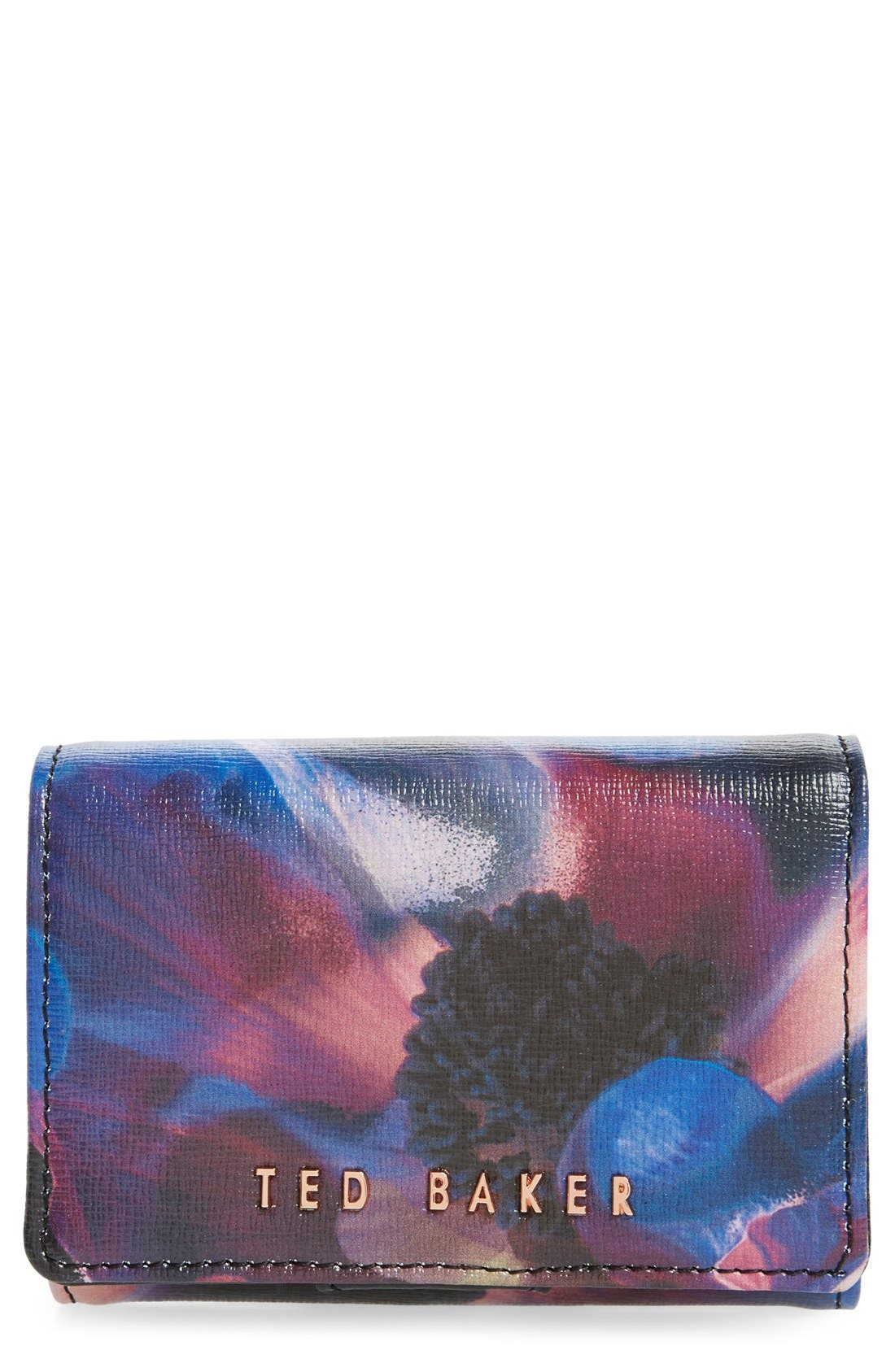 Main Image - Ted Baker London 'Cosmic Bloom' Floral Print Leather Wallet