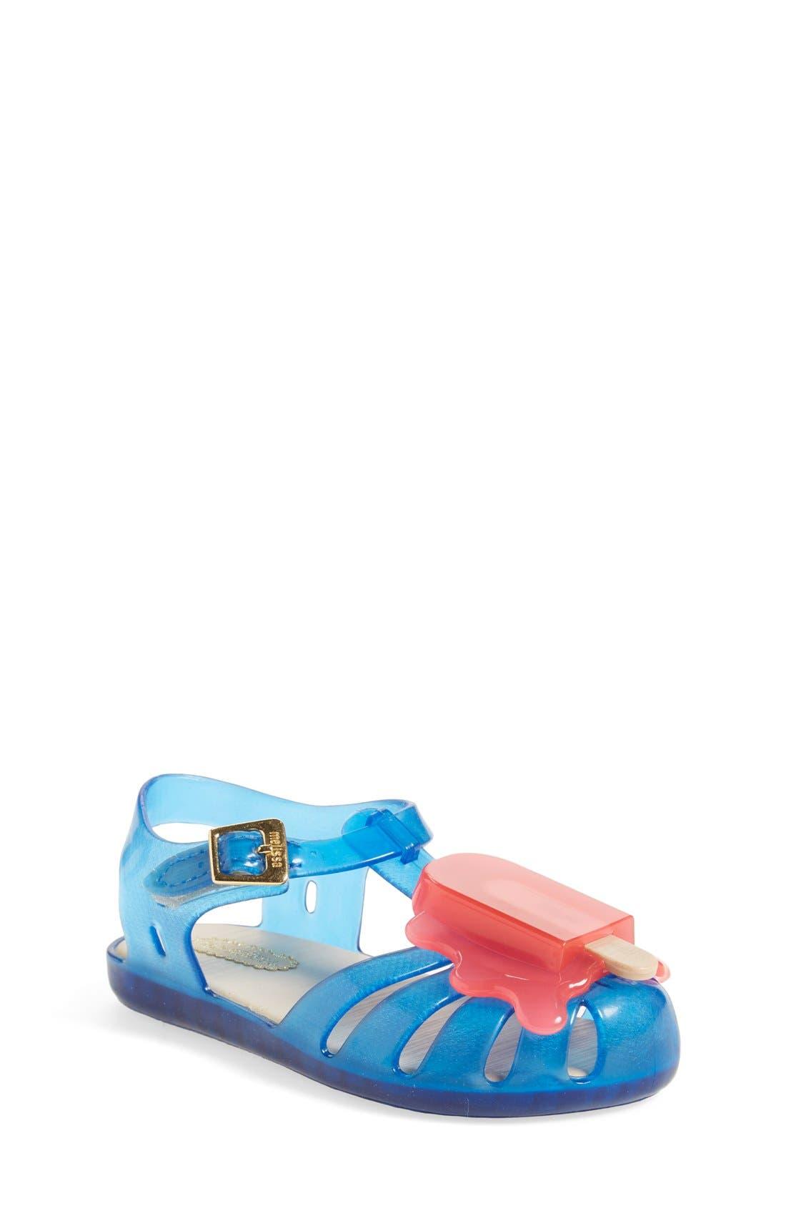 Mini Melissa 'Aranha' Mary Jane Sandal (Walker & Toddler)