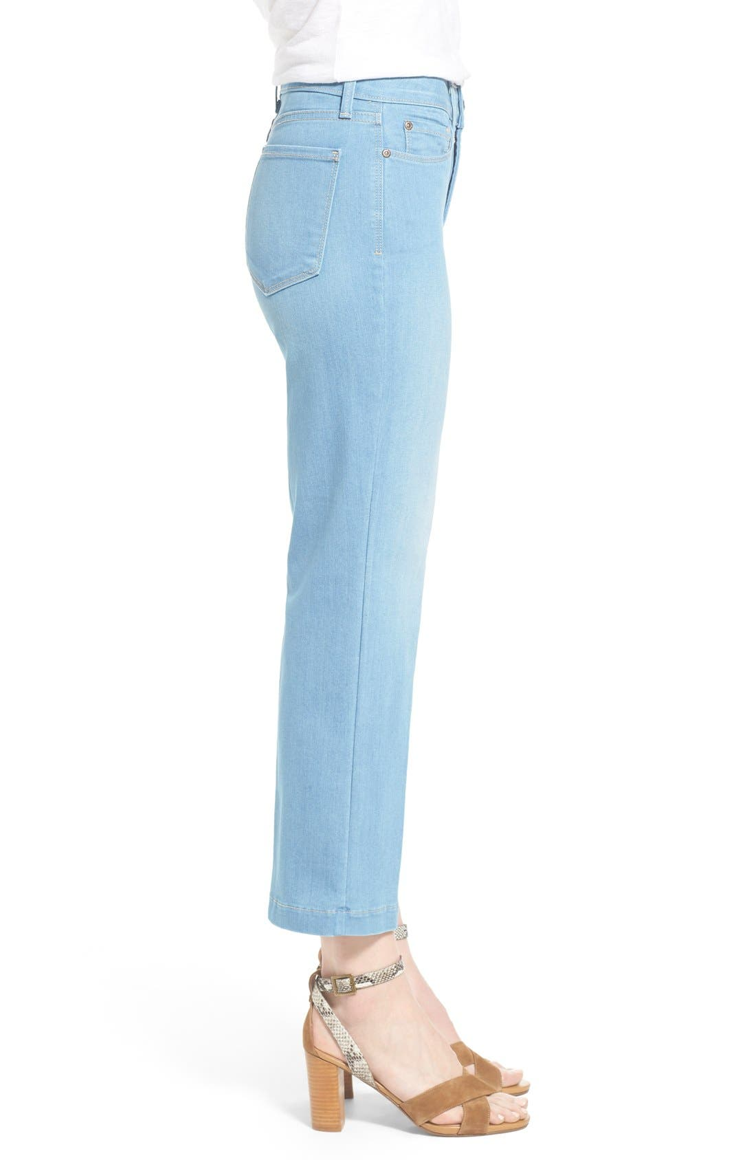 Alternate Image 3  - NYDJ 'Sophia' Stretch Ankle Flare Leg Jeans (Palm Bay)