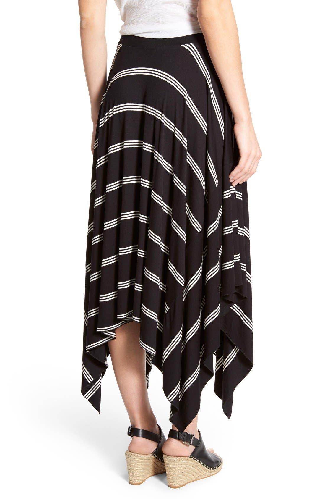 Alternate Image 2  - Halogen® Stretch Knit Handkerchief Hem Maxi Skirt (Regular & Petite)