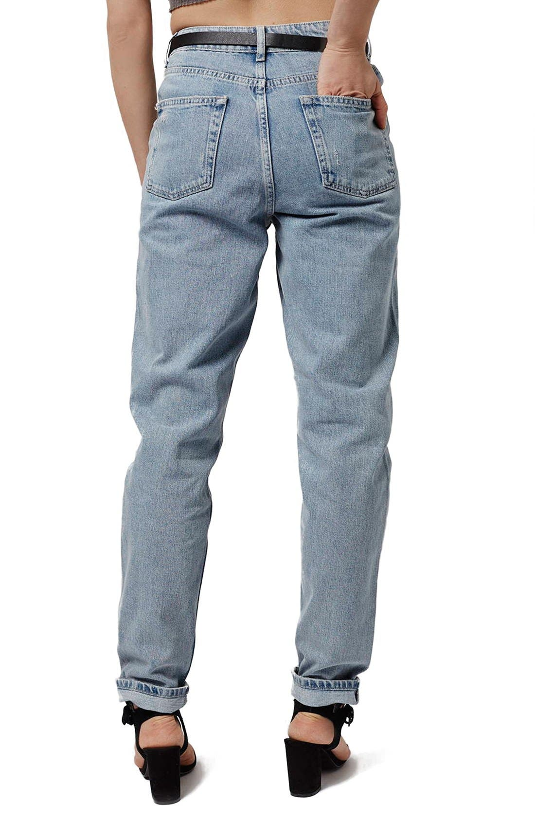 Alternate Image 3  - Topshop Ripped High Rise Mom Jeans (Tall)