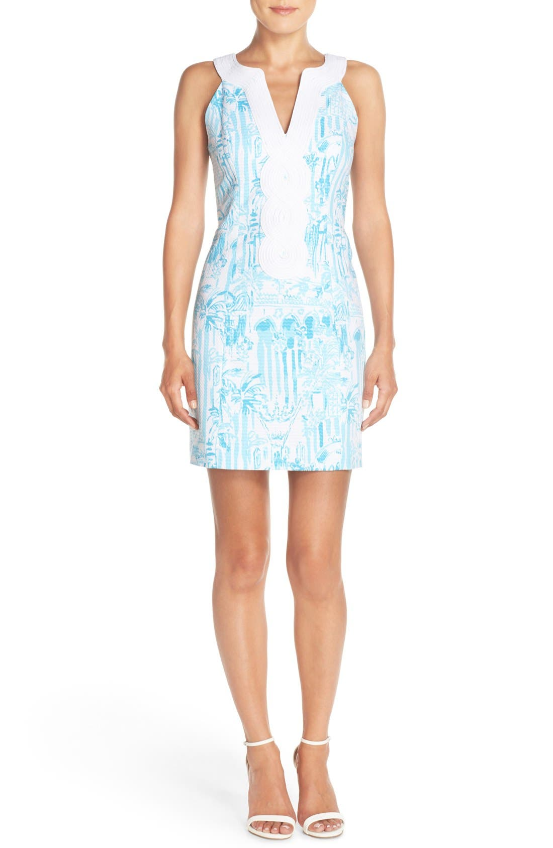 Alternate Image 4  - Lilly Pulitzer® 'Valli' Soutache Print Jacquard Sheath Dress
