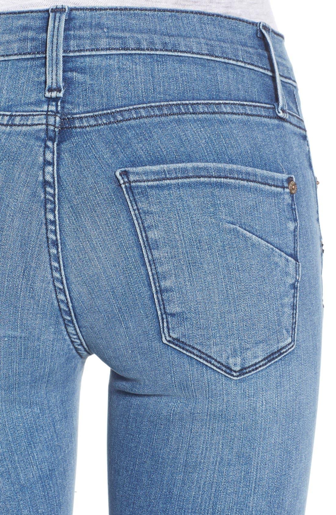Alternate Image 4  - James Jeans Double Front Zip Denim Leggings (Splash)