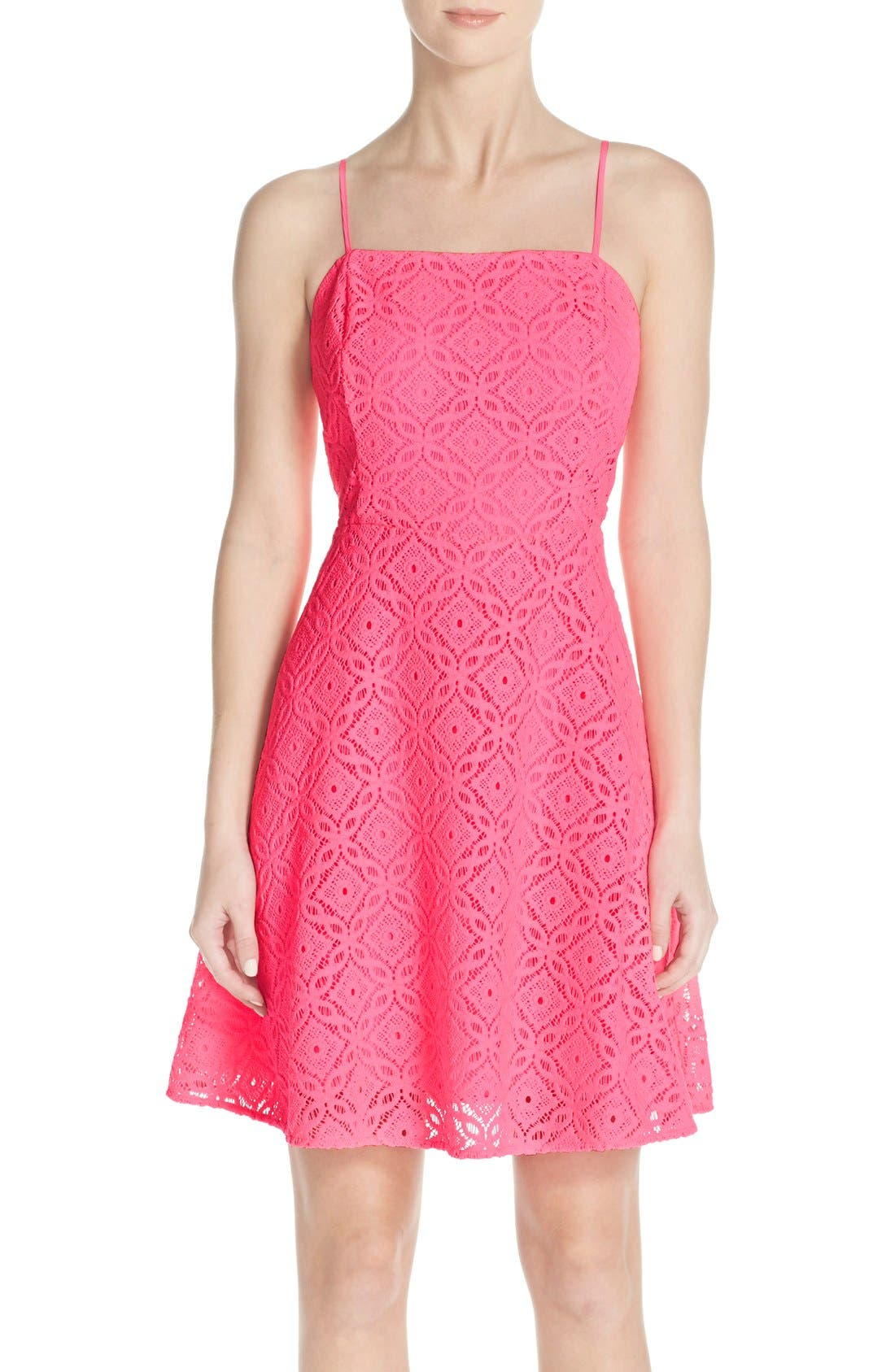 Main Image - Lilly Pulitzer® 'Jennilee' Lace Fit & Flare Dress