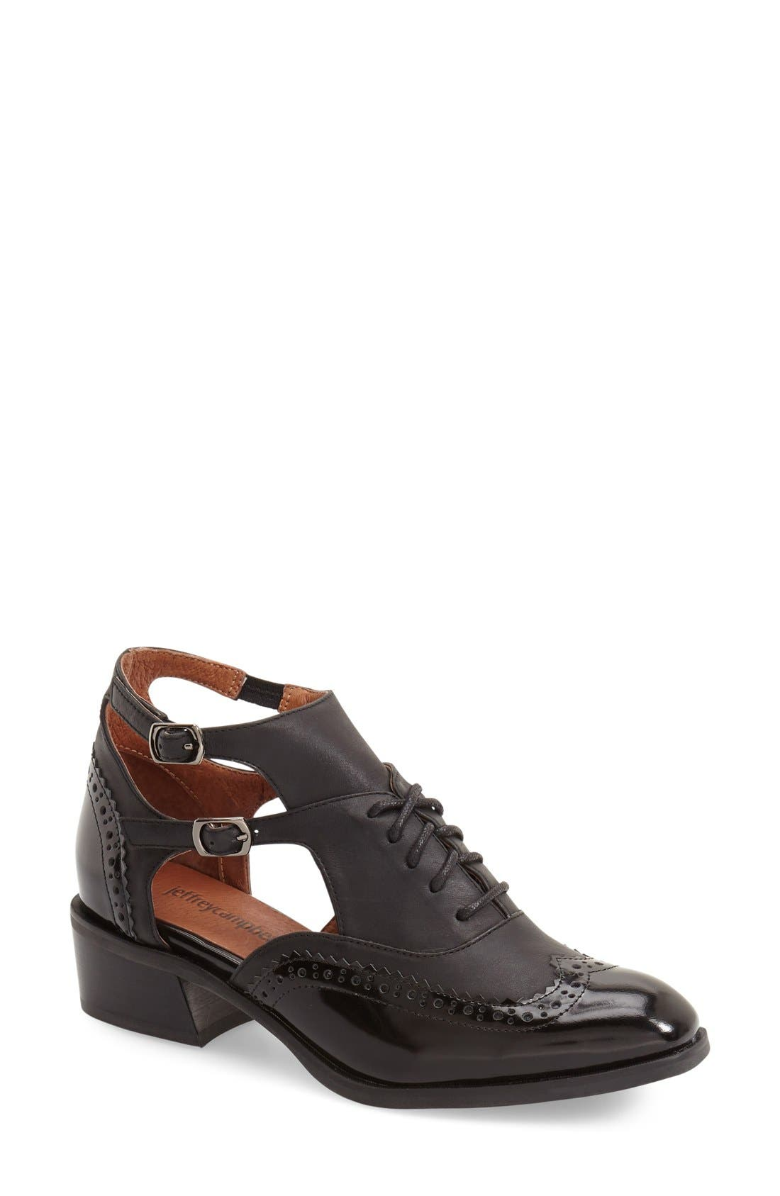 Alternate Image 1 Selected - Jeffrey Campbell 'Delaney' Cutout Oxford (Women)