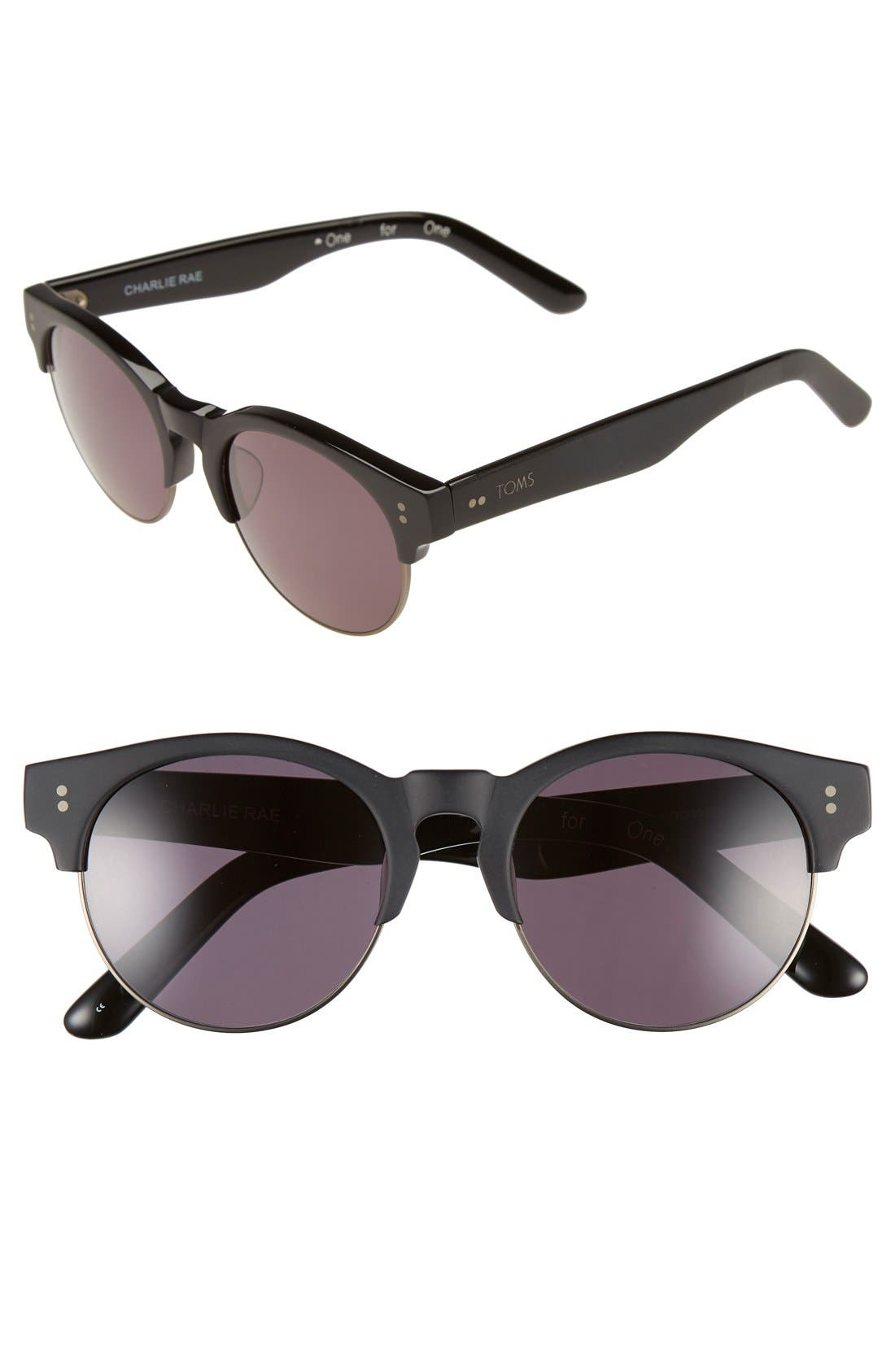 Alternate Image 1 Selected - TOMS 'Charlie Rae' 52mm Sunglasses