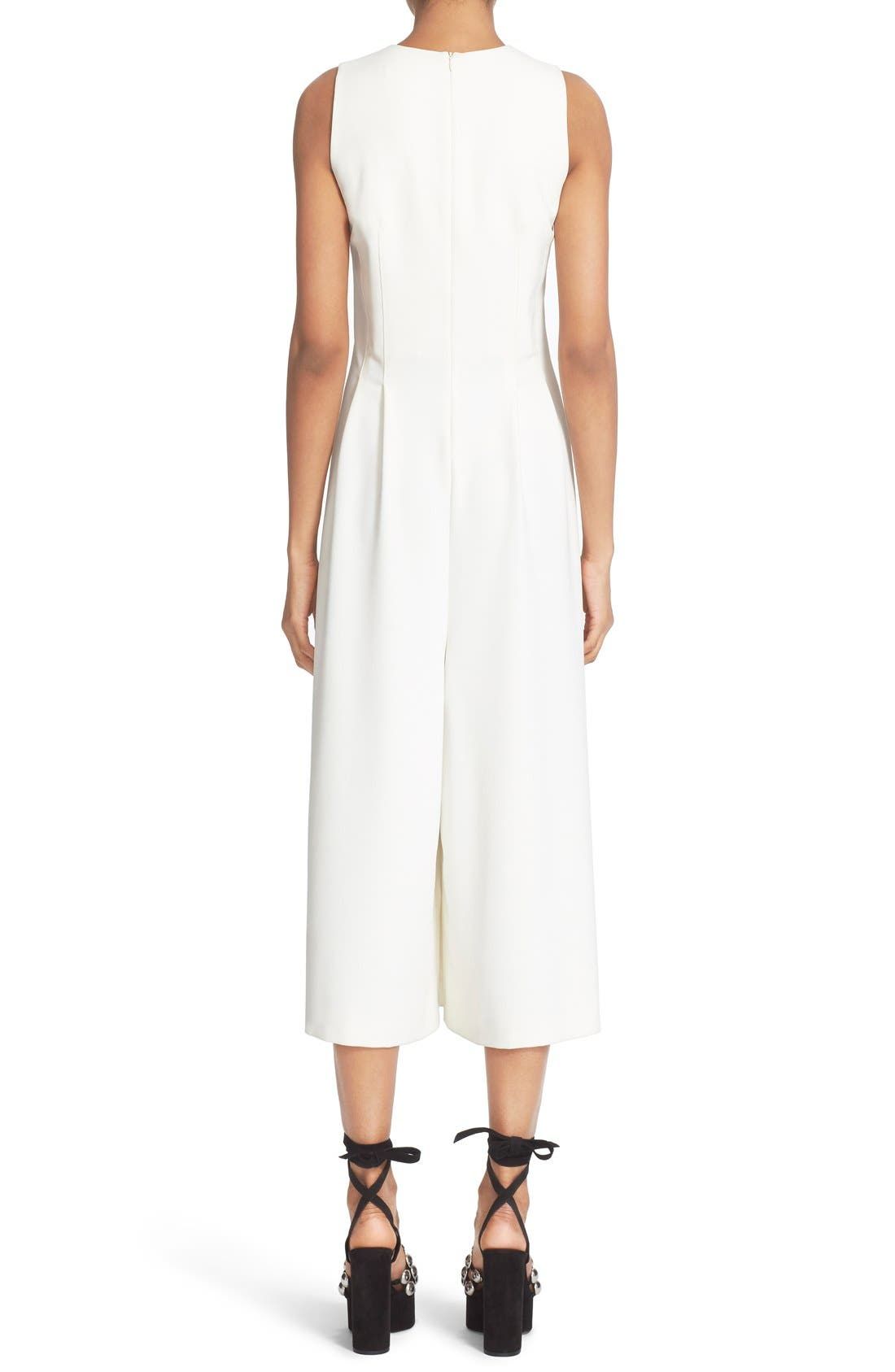 Alternate Image 2  - T by Alexander Wang V-Neck Stretch Twill Gaucho Romper