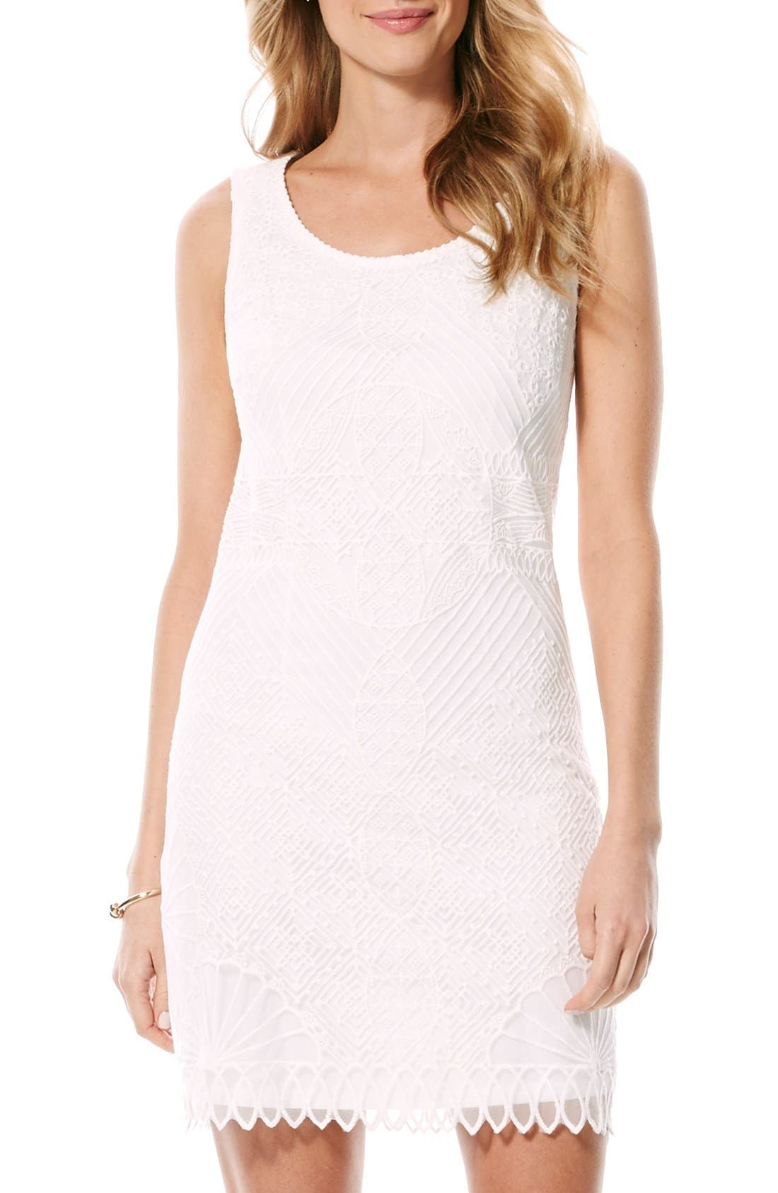 Alternate Image 1 Selected - Laundry by Shelli Segal Embroidered Sheath Dress
