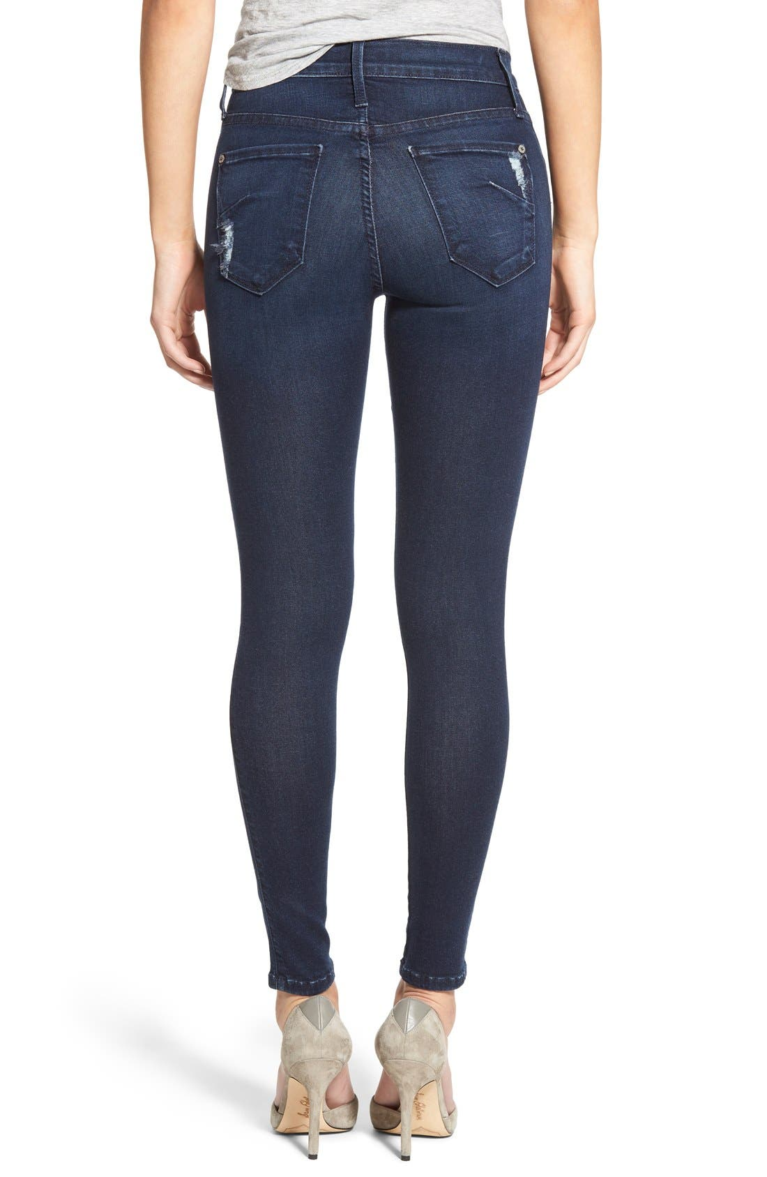 Alternate Image 2  - James Jeans Ankle Five-Pocket Denim Leggings