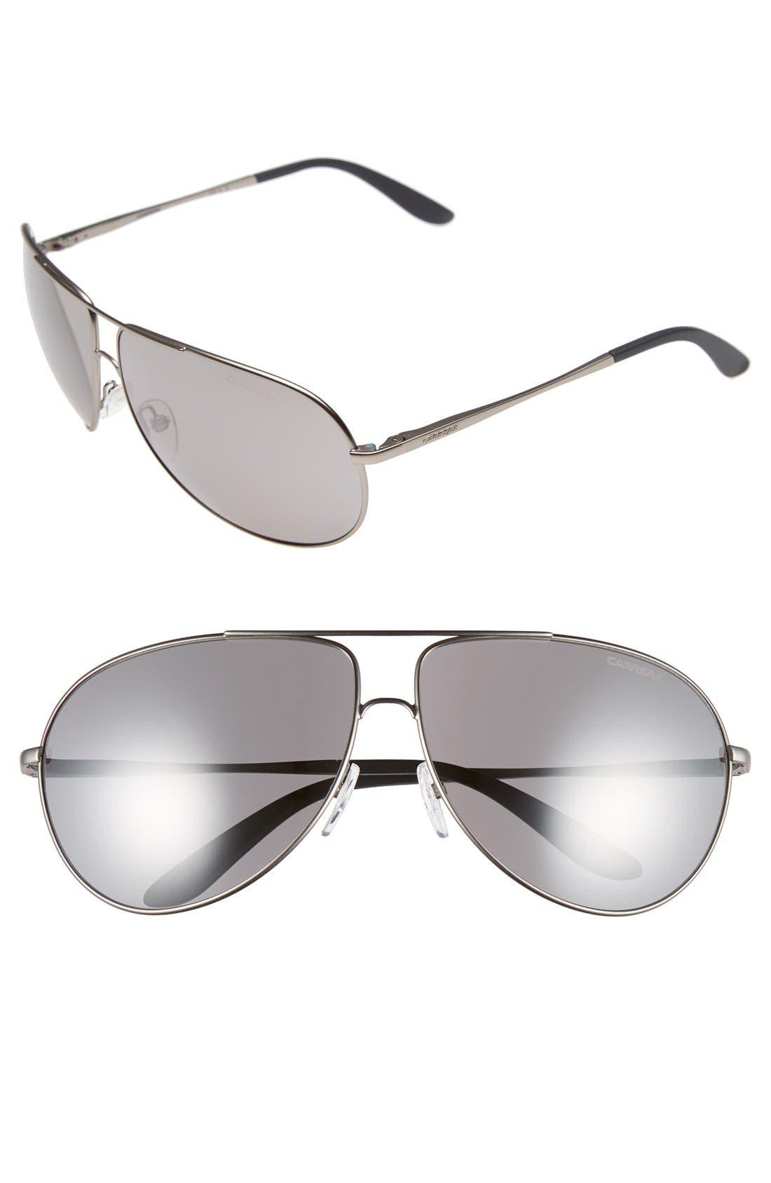 Carrera Eyewear 64mm Aviator Sunglasses