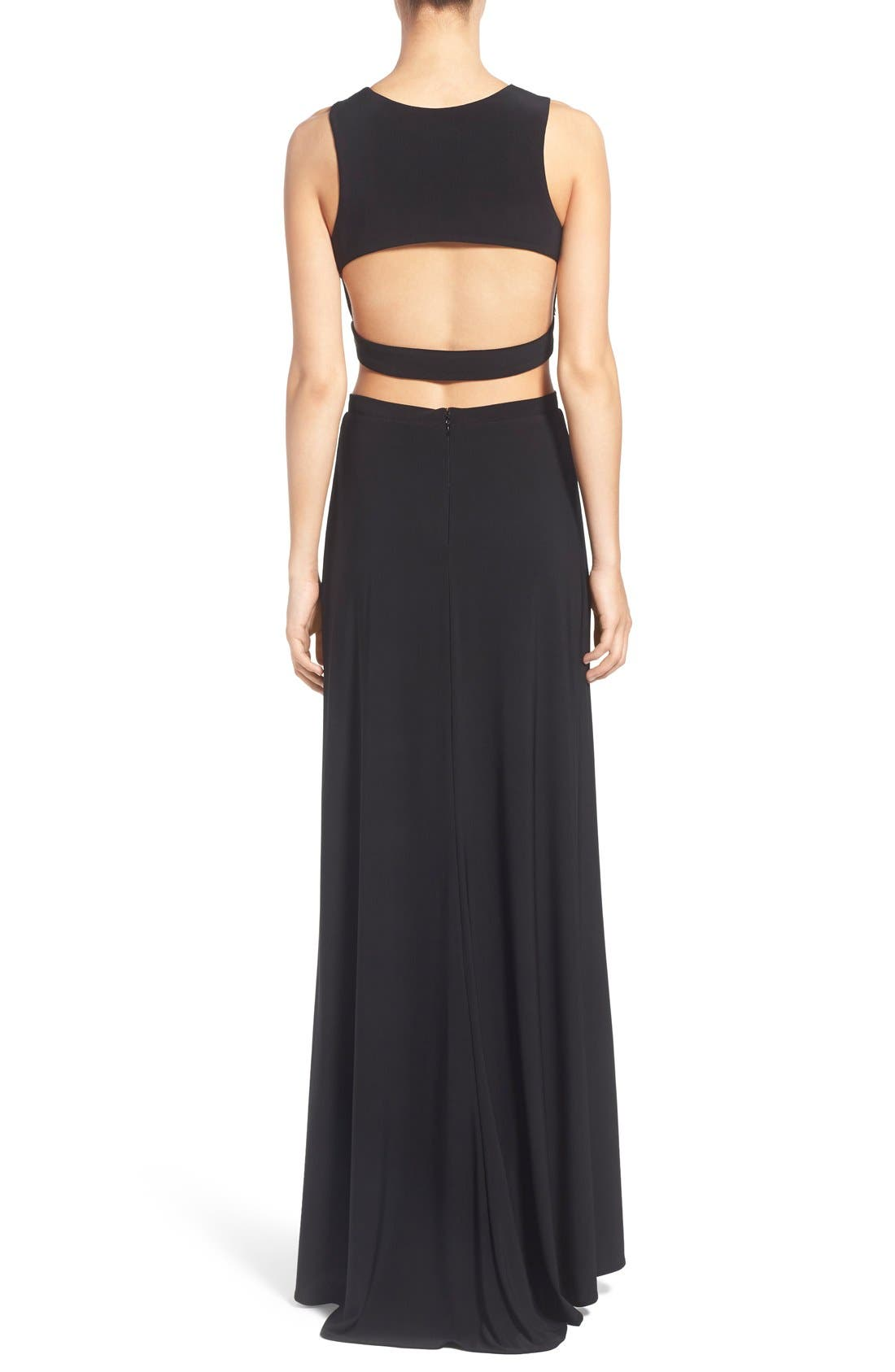 Alternate Image 2  - Morgan & Co. Embellished Two-Piece Gown