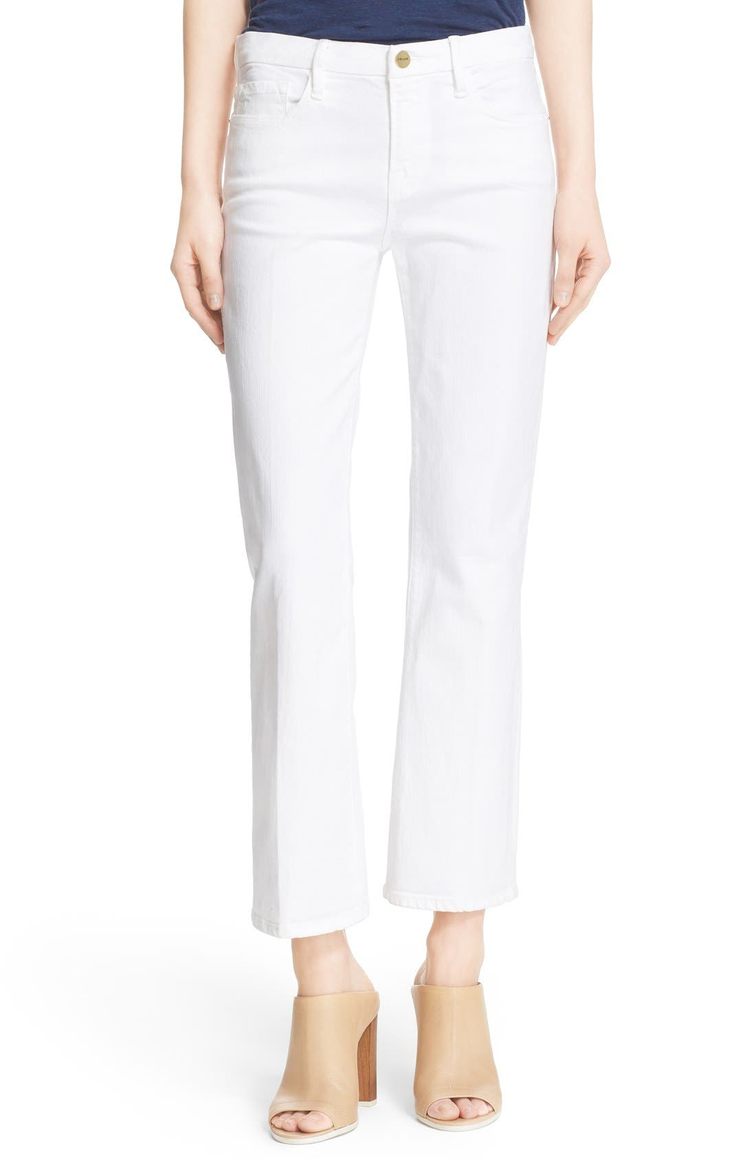 Alternate Image 1 Selected - FRAME 'Le Crop Mini Boot' Crop Jeans (Blanc)