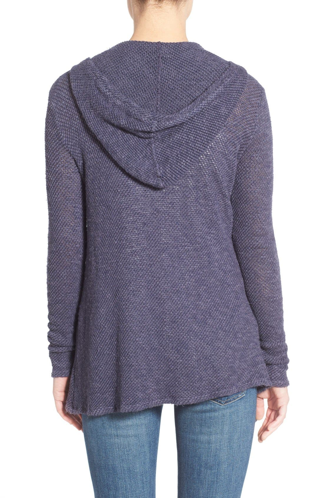 Alternate Image 2  - Velvet by Graham & Spencer Hooded Drape Front Cardigan