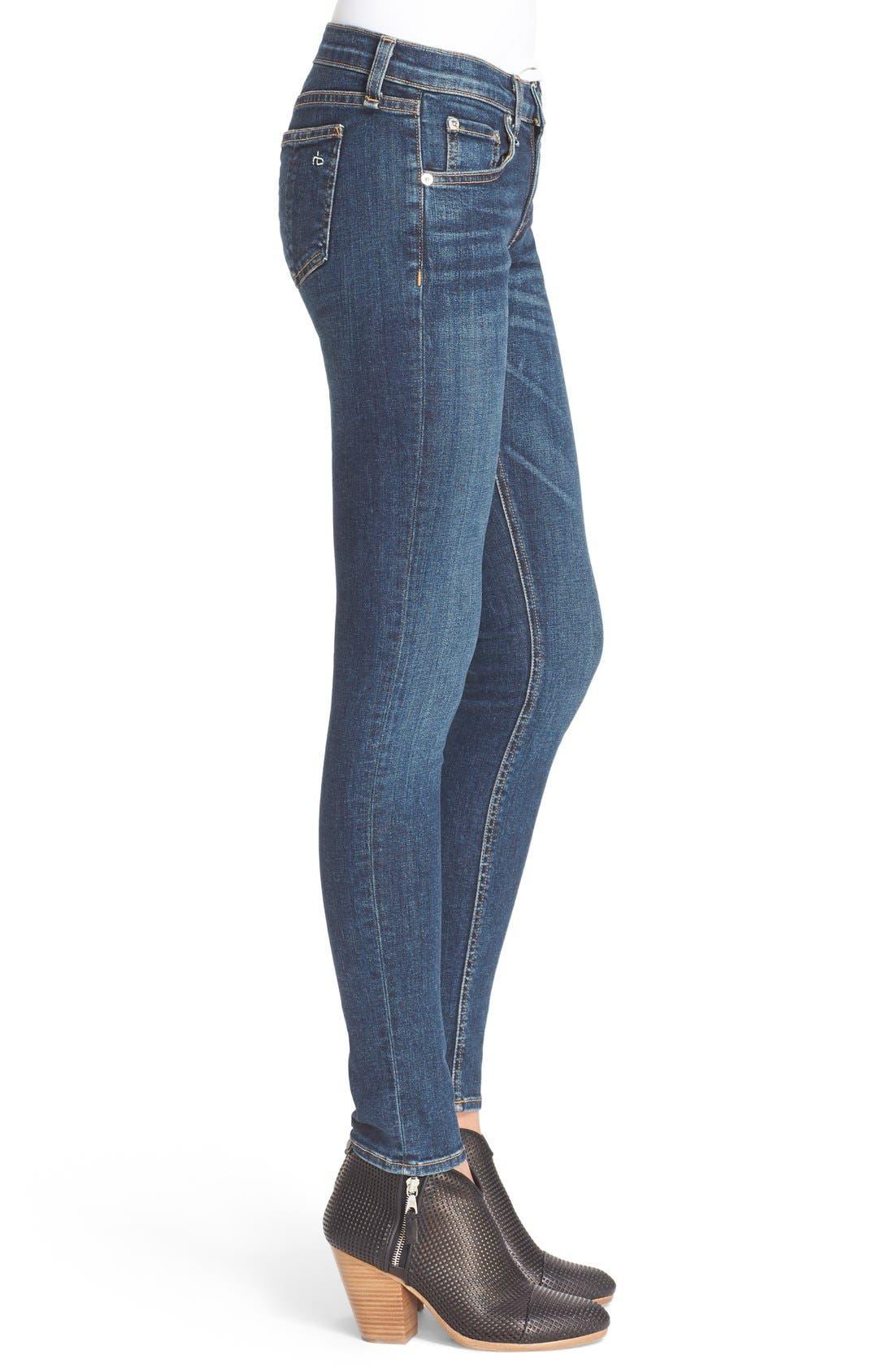 Alternate Image 3  - rag & bone/JEAN Skinny Jeans (Phoenicia)