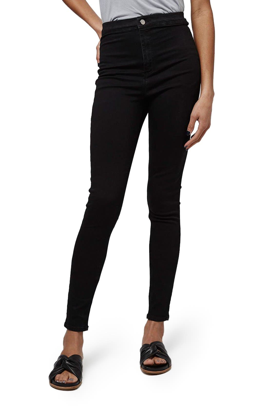 Alternate Image 1 Selected - Topshop 'Joni - Holding Power' High Waist Skinny Jeans (Tall)
