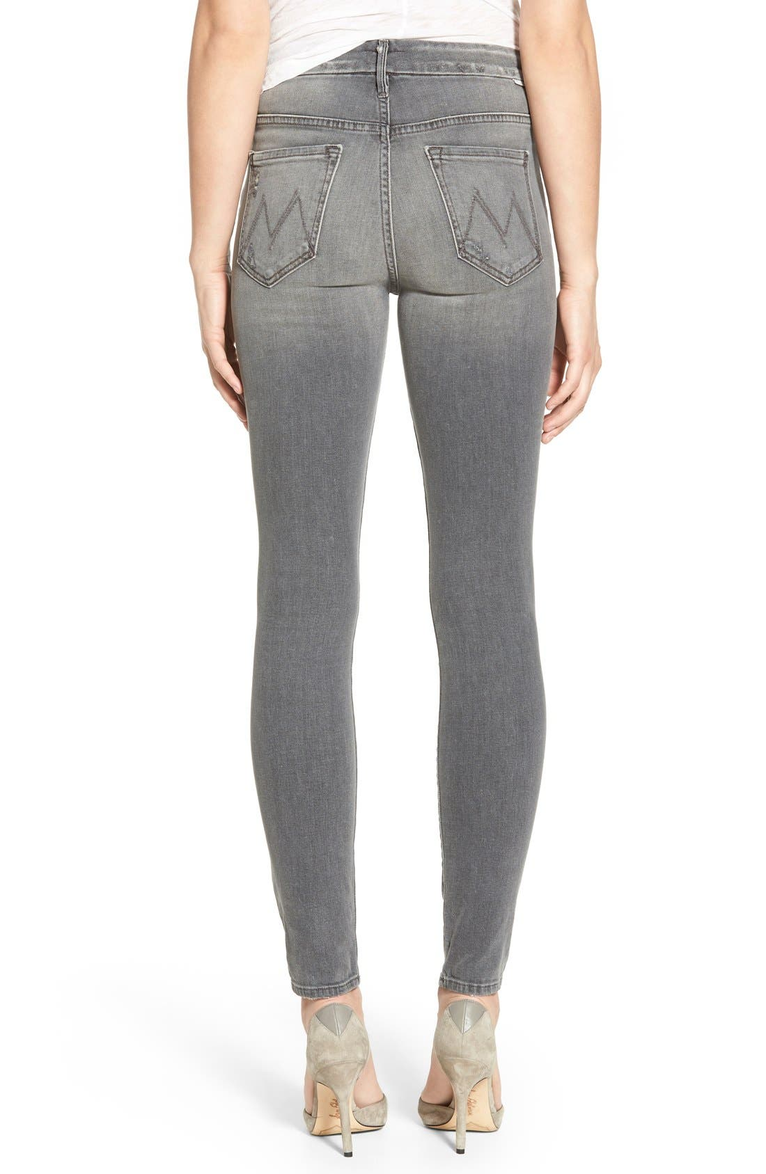 Alternate Image 2  - MOTHER 'The Looker' High Rise Skinny Jeans (To the Moon and Back Again)