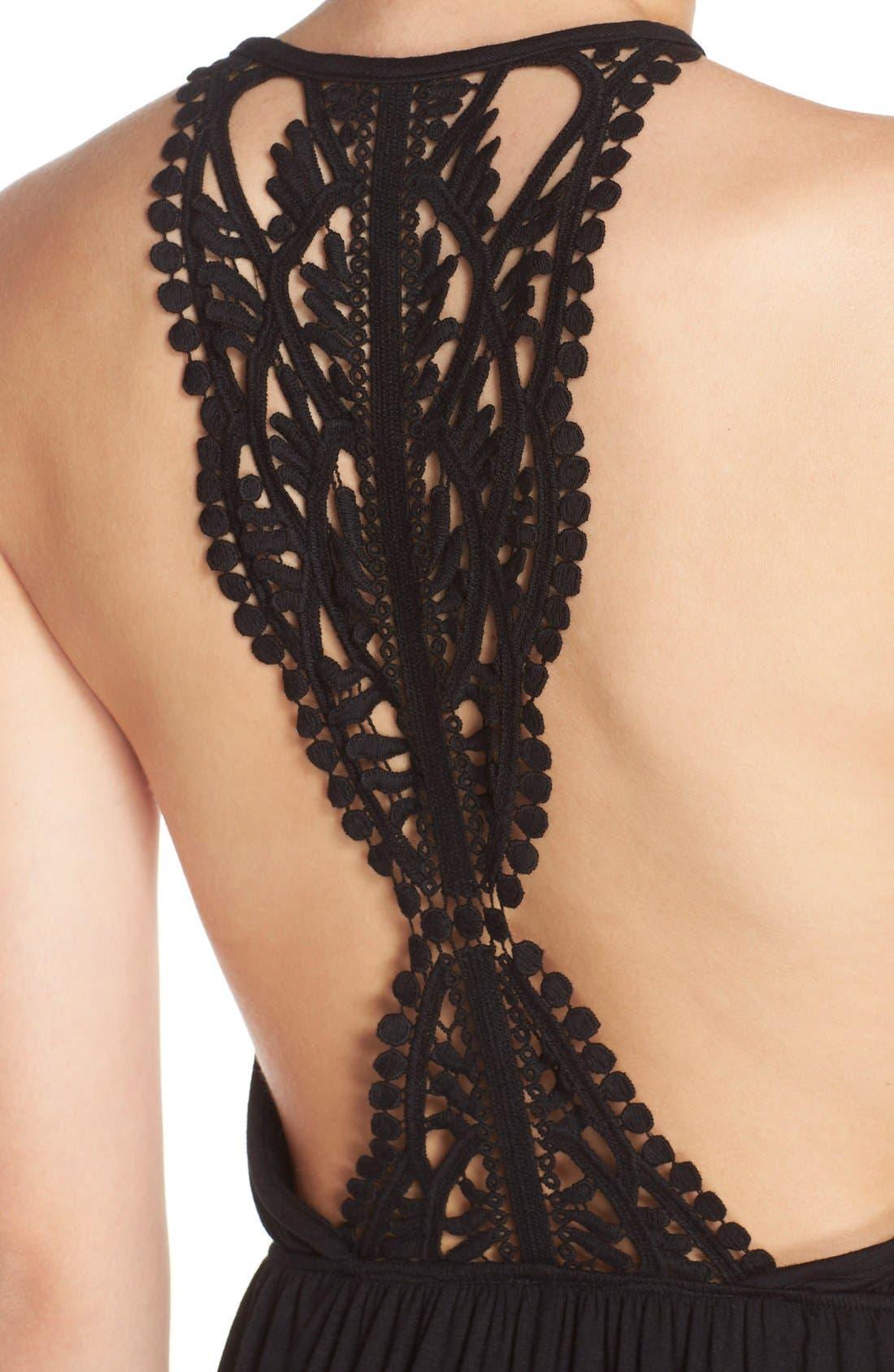 Alternate Image 4  - Surf Gypsy Crochet Back Jersey Cover-Up Maxi Dress