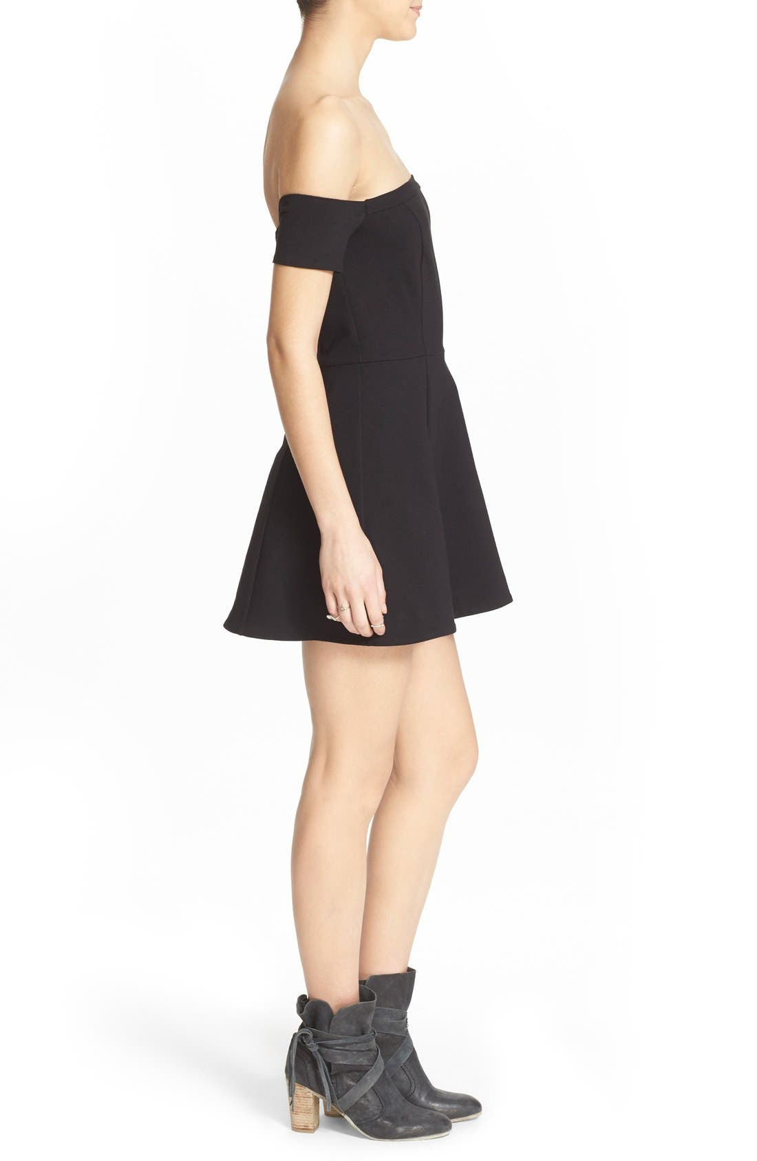 Alternate Image 3  - Free People 'Black Mambo' Off the Shoulder Minidress