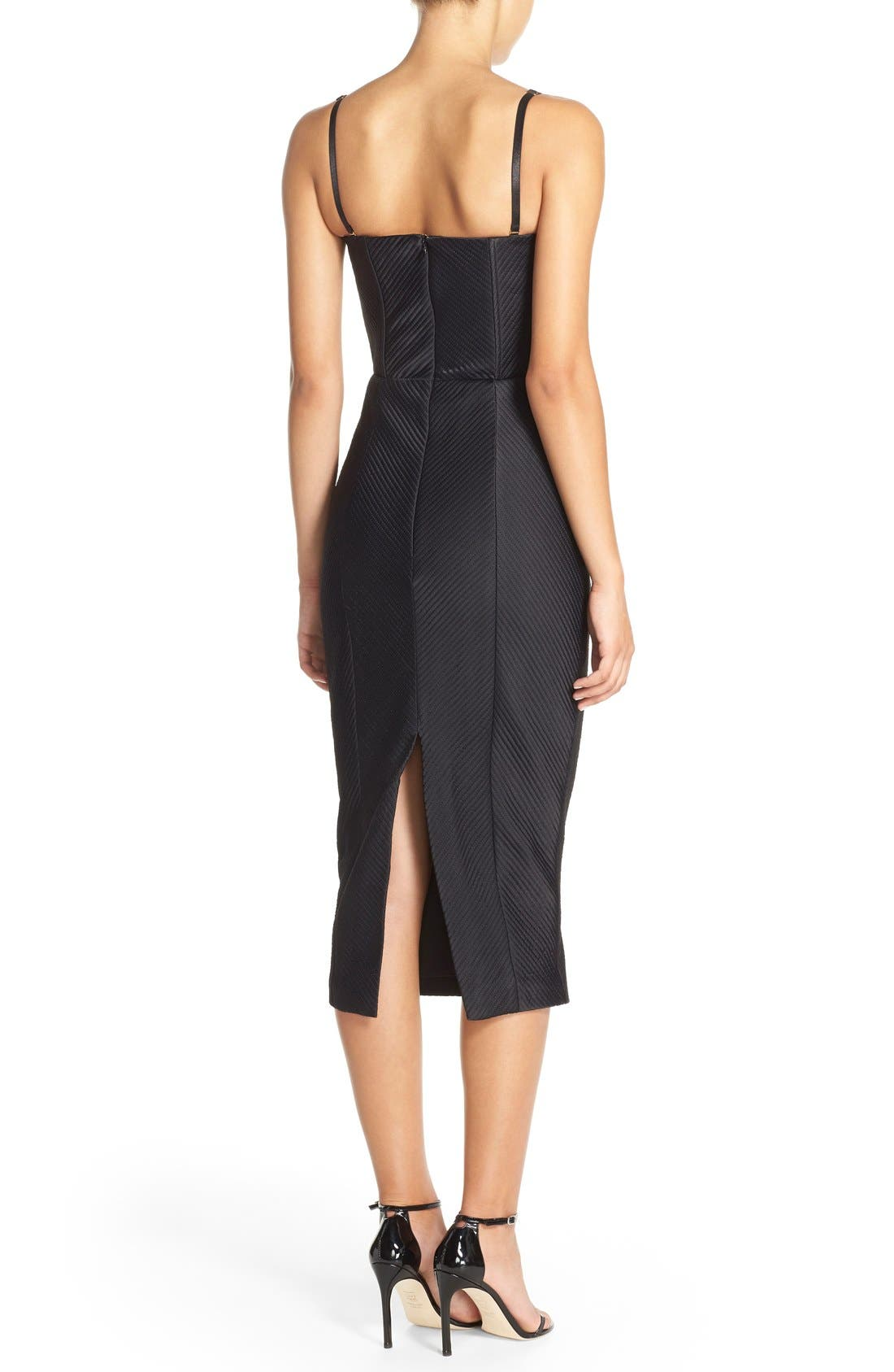 Alternate Image 2  - Misha Collection 'Byanca' Convertible Quilted Midi Dress