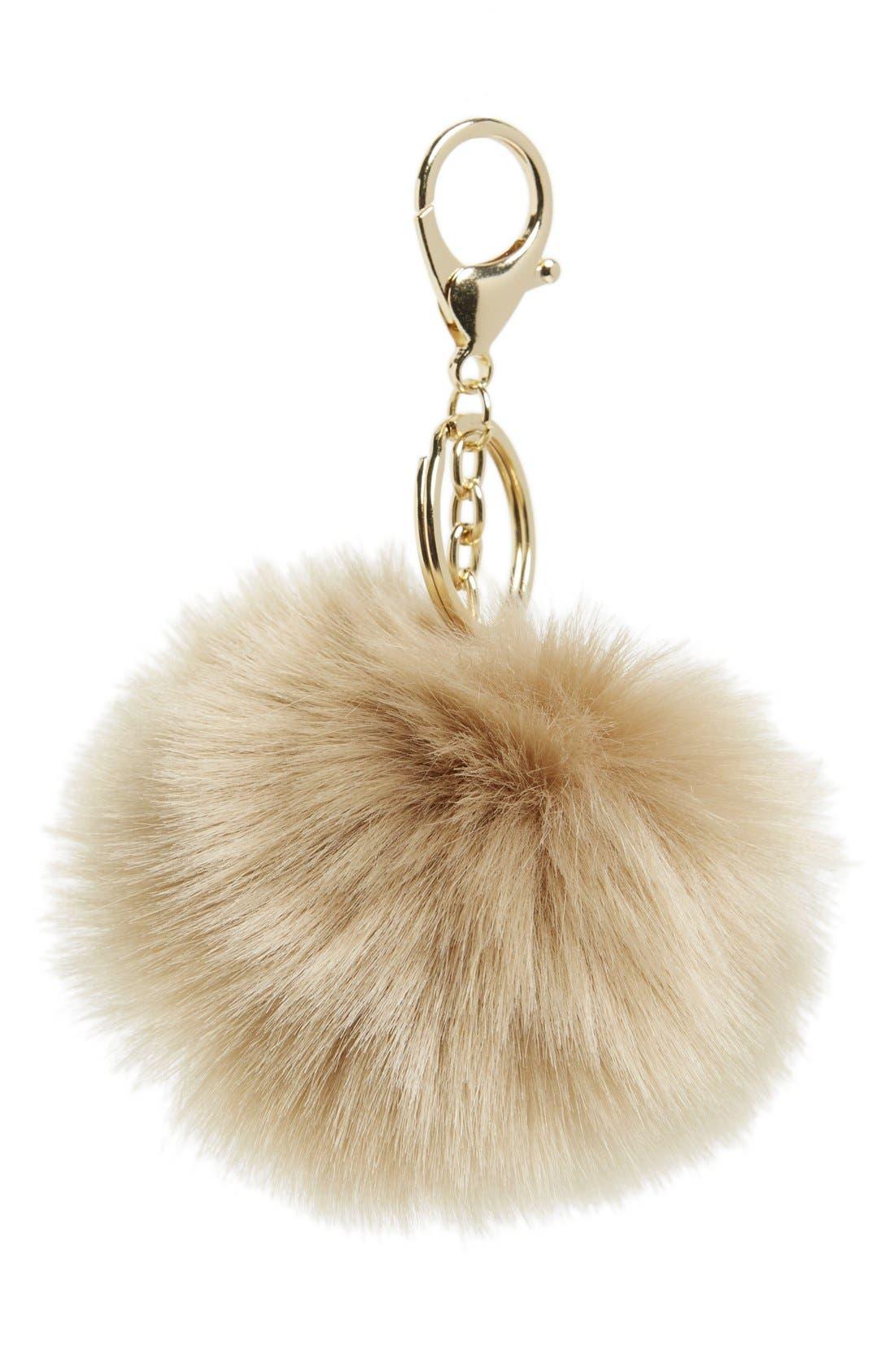 Alternate Image 1 Selected - Shinhwa Faux Fur Pom Keychain