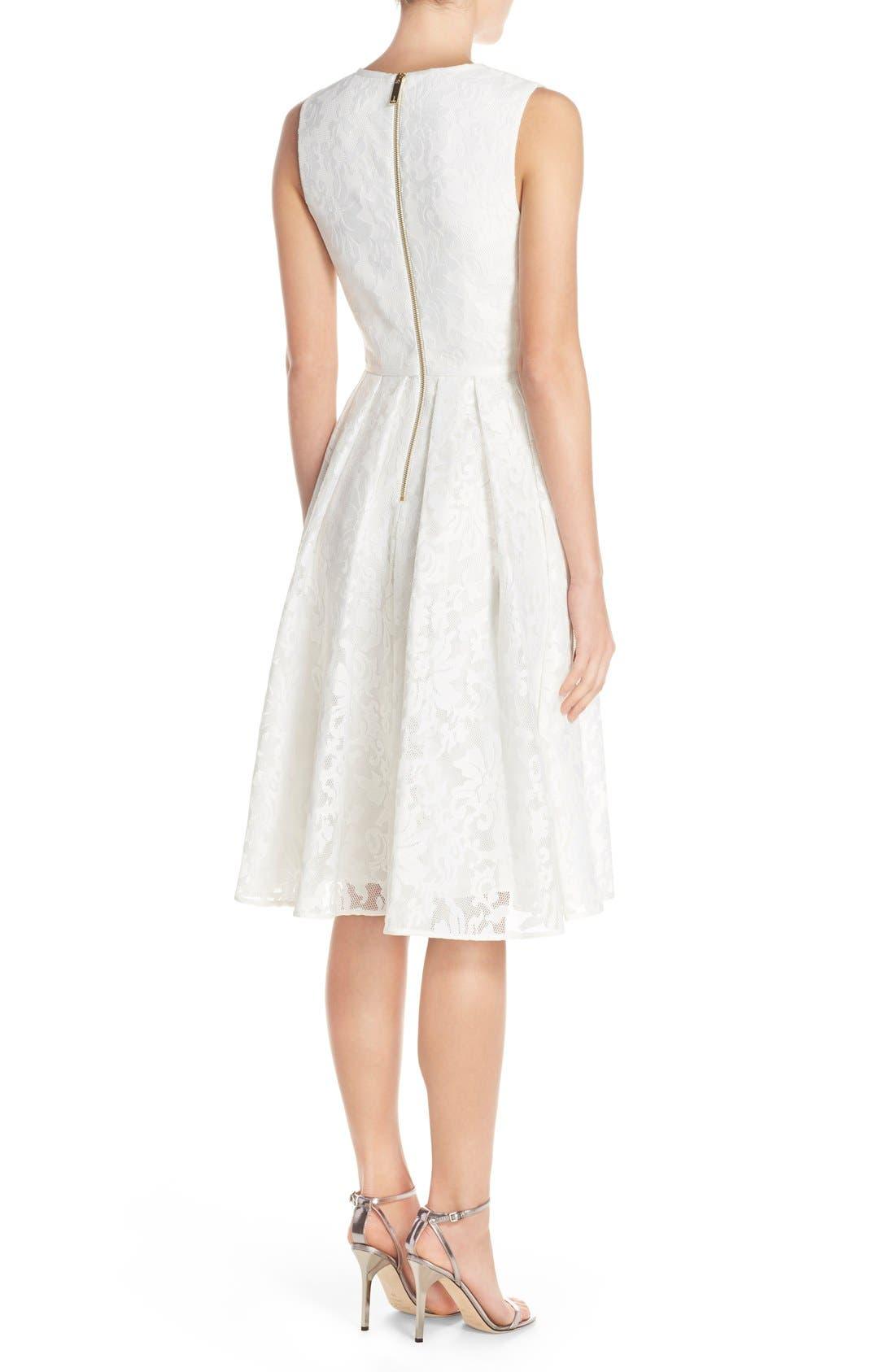 Alternate Image 3  - Ted Baker London 'Deah' V-Neck Bonded Mesh Lace Dress