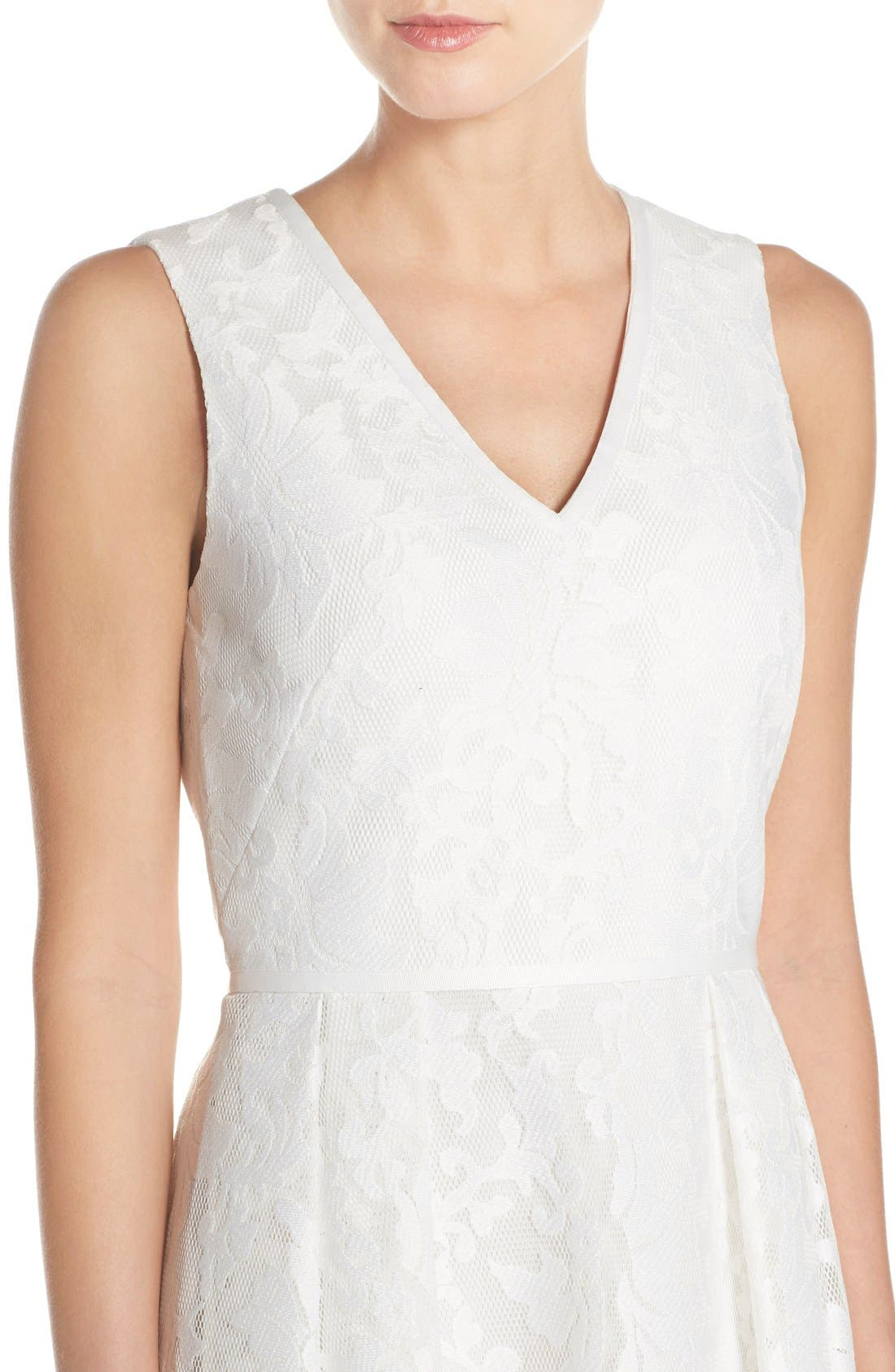 Alternate Image 4  - Ted Baker London 'Deah' V-Neck Bonded Mesh Lace Dress