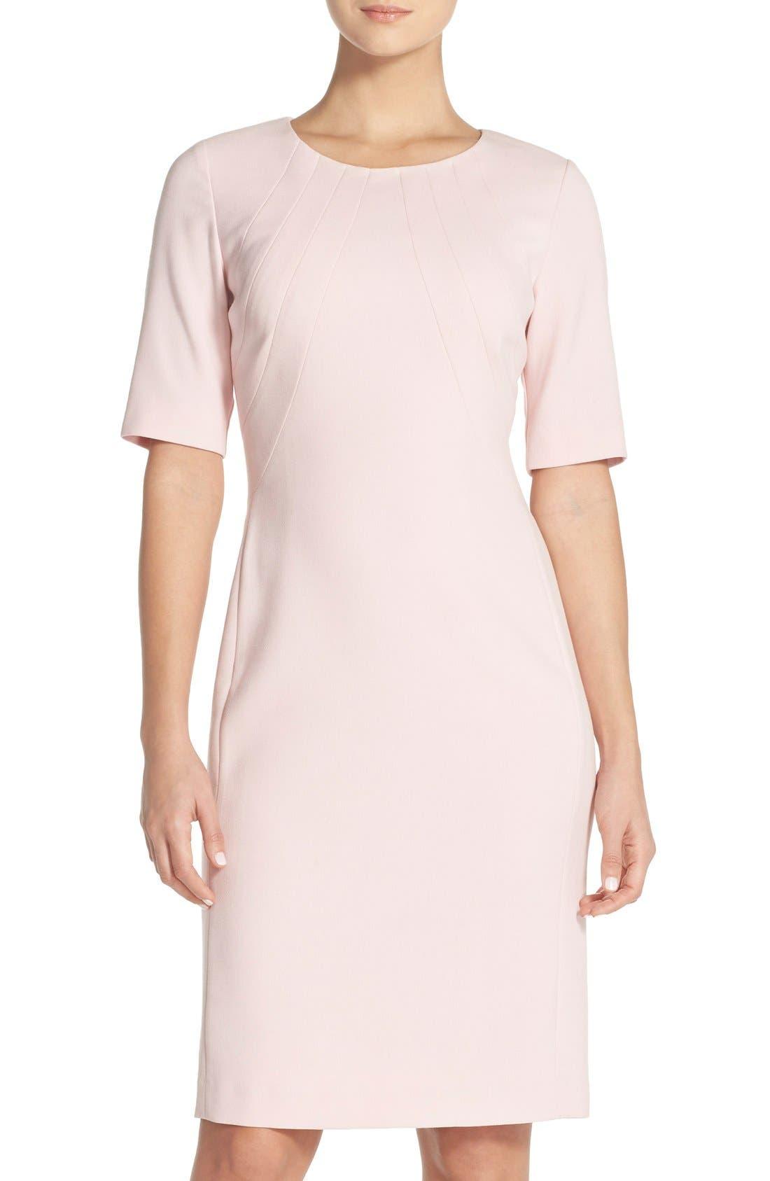 Eliza J Crepe Sheath Dress (Regular & Petite)