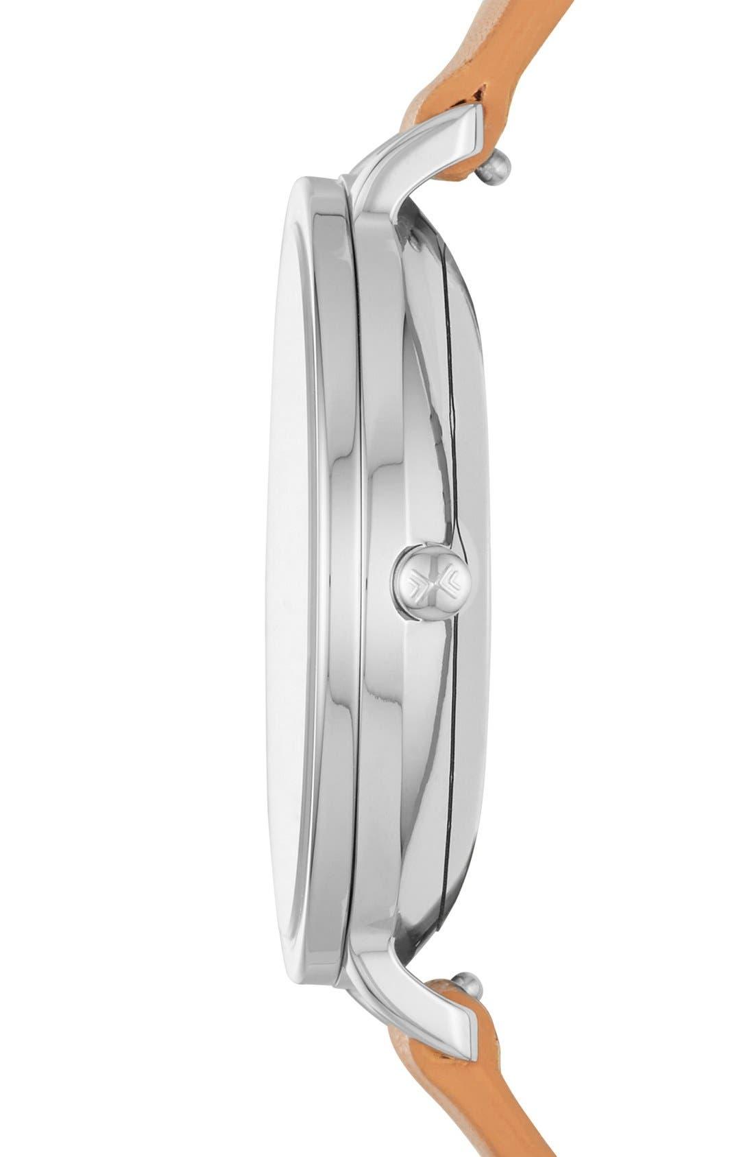 Alternate Image 2  - Skagen 'Hagen' Leather Strap Watch, 34mm