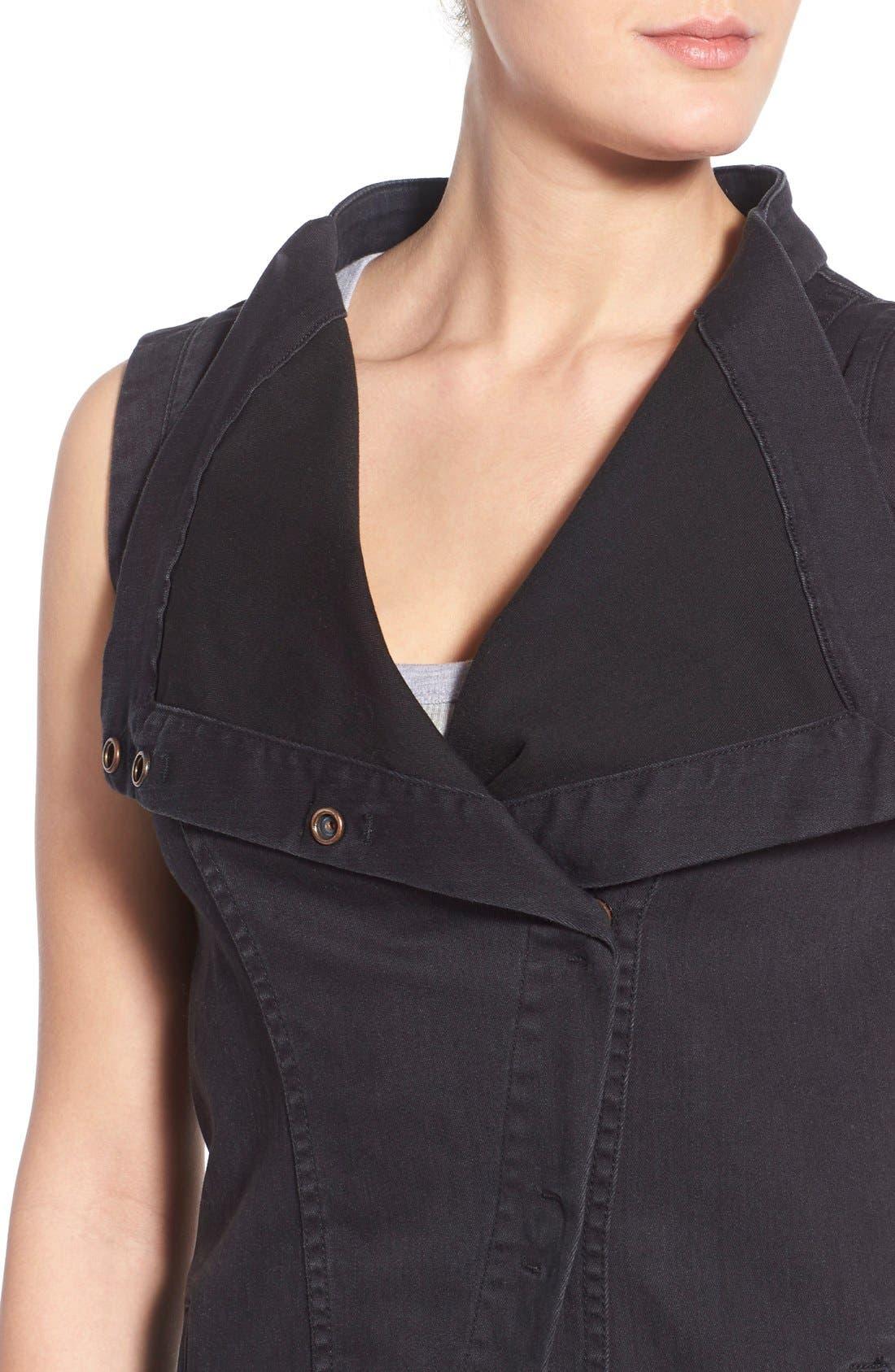 Alternate Image 4  - Fine by Superfine 'Grace' Drape Front Denim Vest