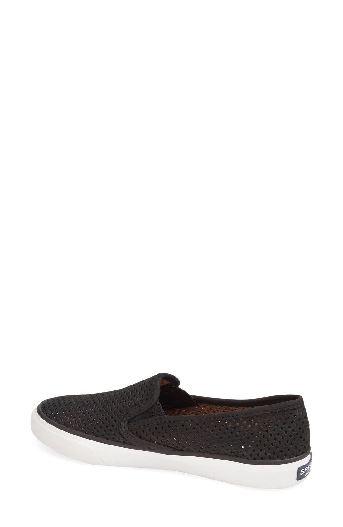 Alternate Image 2  - Sperry 'Seaside' Perforated Slip-On Sneaker (Women)