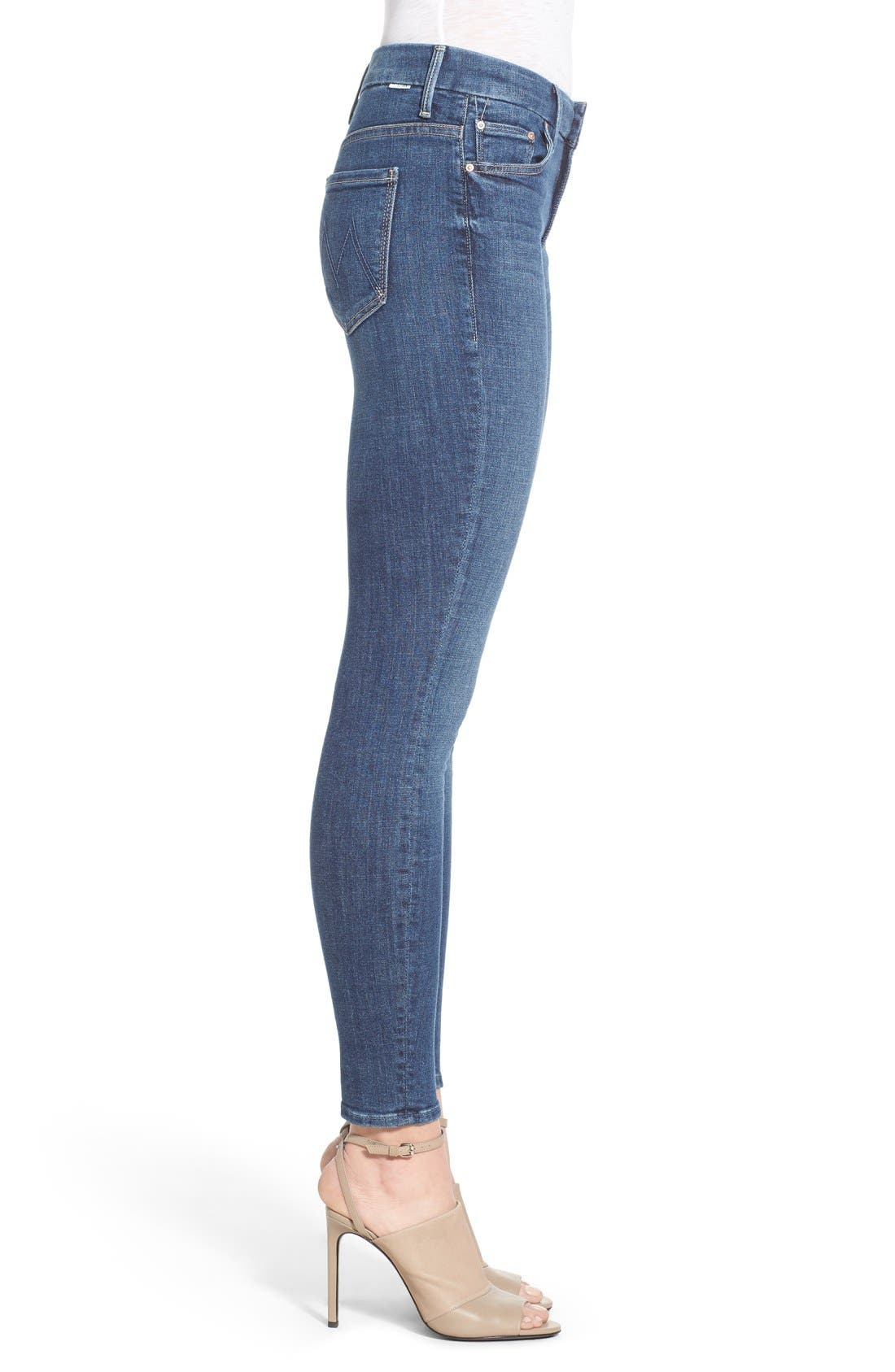Alternate Image 3  - MOTHER 'The Looker' High Rise Skinny Jeans (Girl Crush)