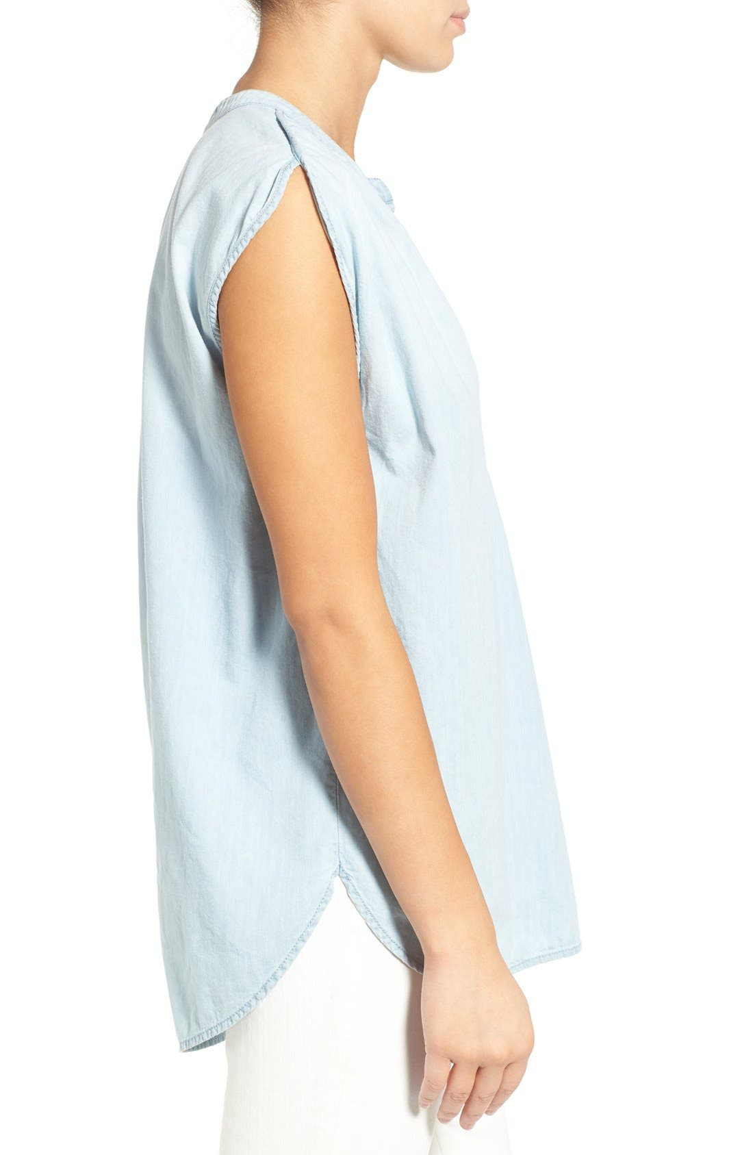 Alternate Image 3  - Madewell 'Summer' Chambray Popover Top