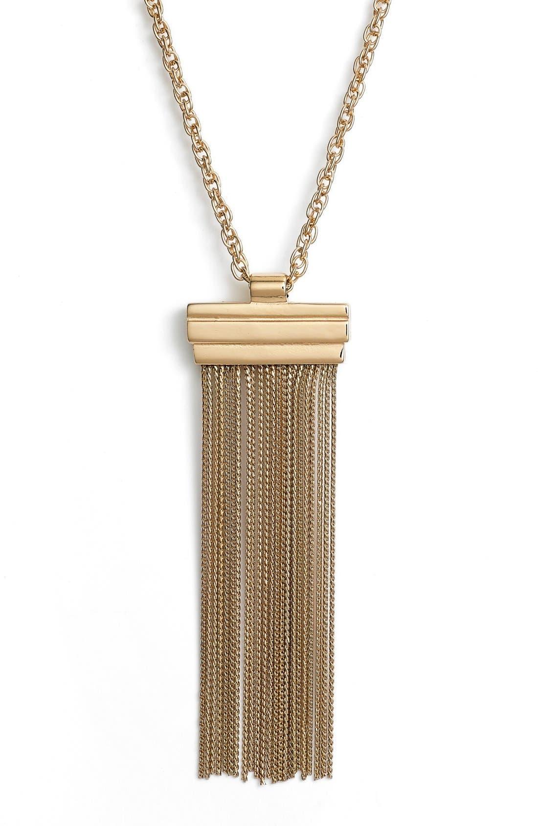 Alternate Image 2  - Elise M. 'Hazel' Fringe Pendant Necklace