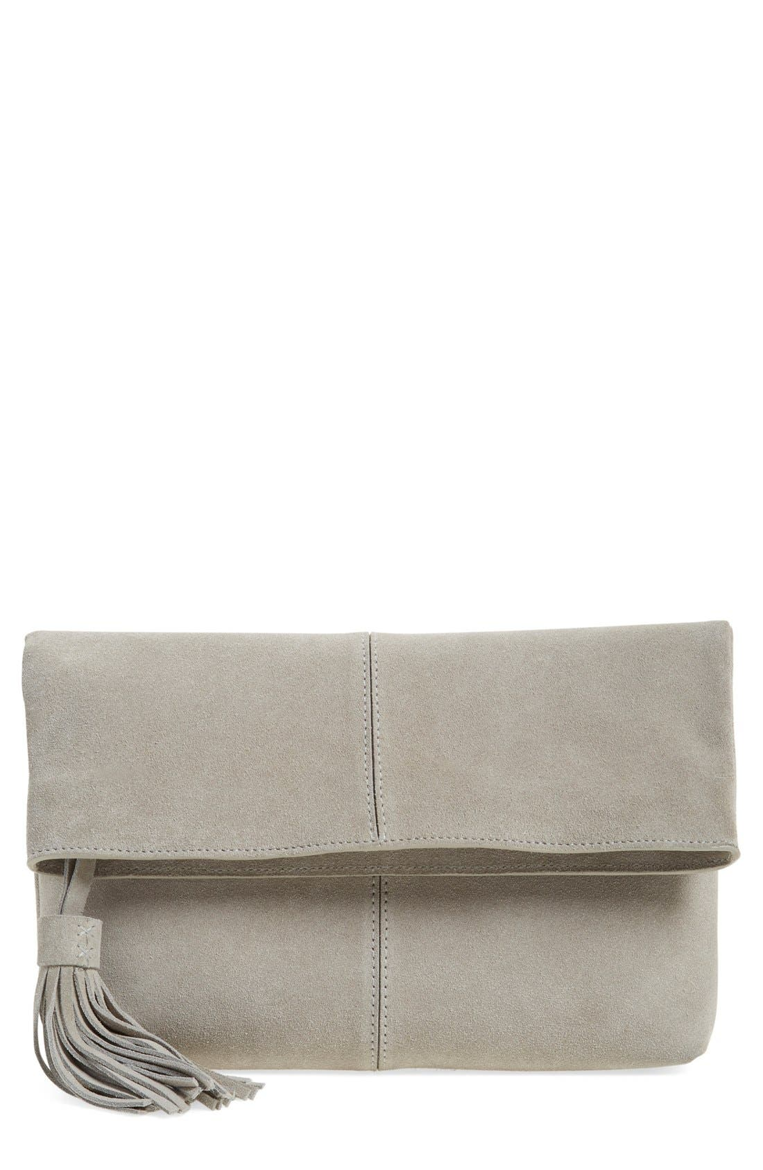 Leith Suede Clutch