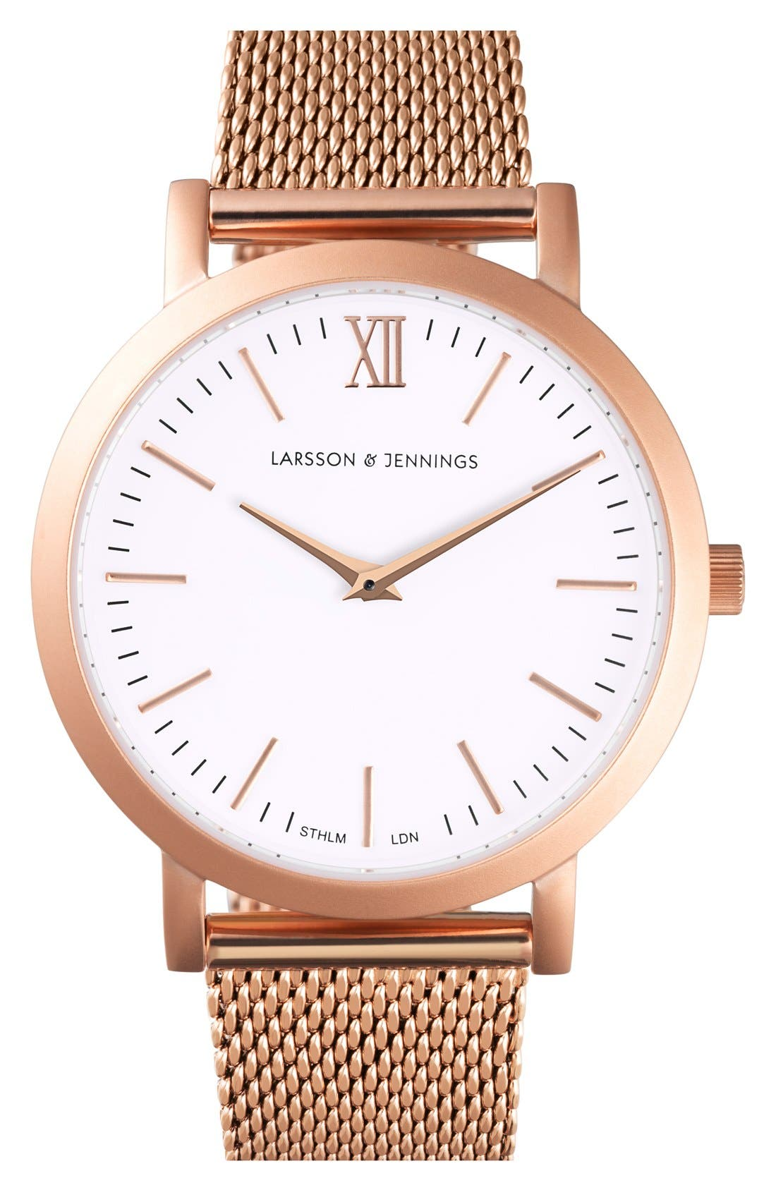 LARSSON & JENNINGS 'Lugano' Mesh Strap Watch, 33mm