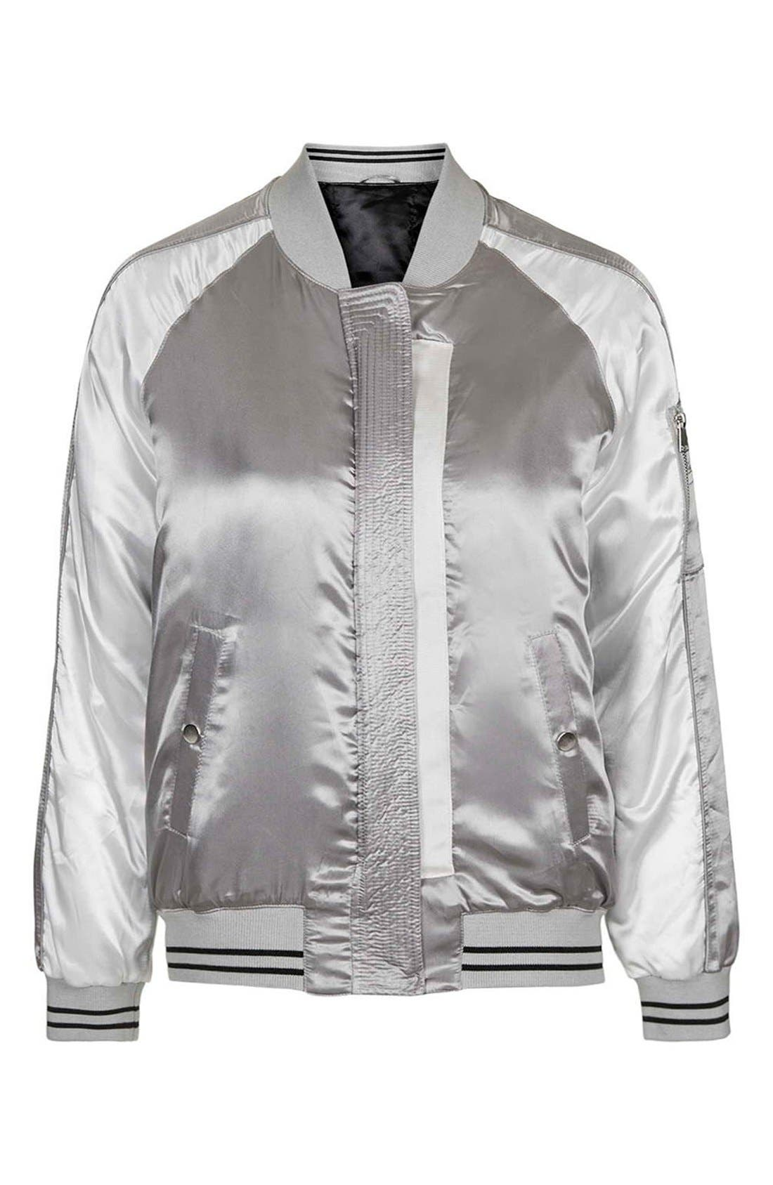 Alternate Image 3  - Topshop Sateen MA-1 Bomber Jacket