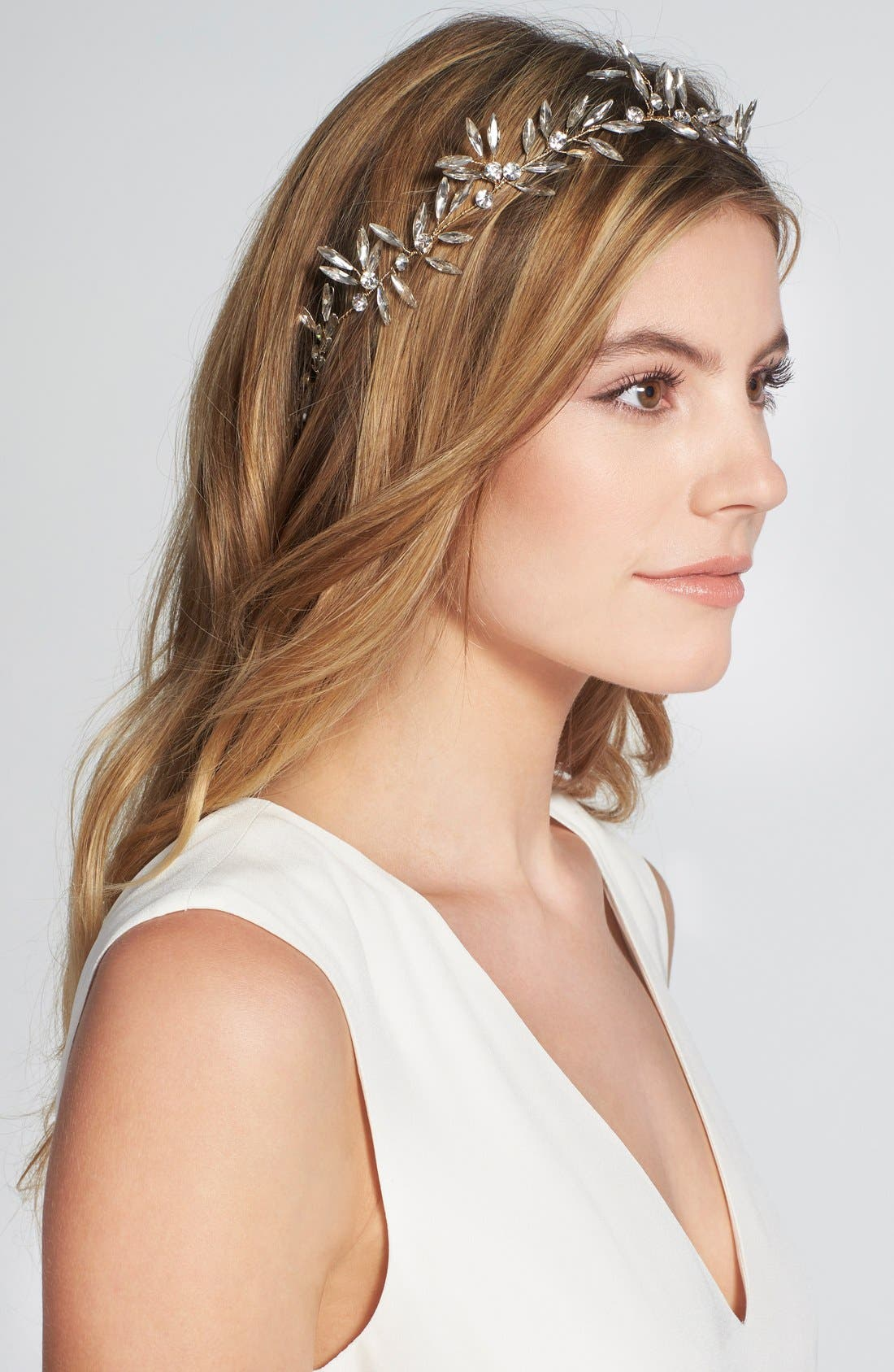 BRIDES & HAIRPINS Daphne Crystal Halo & Sash