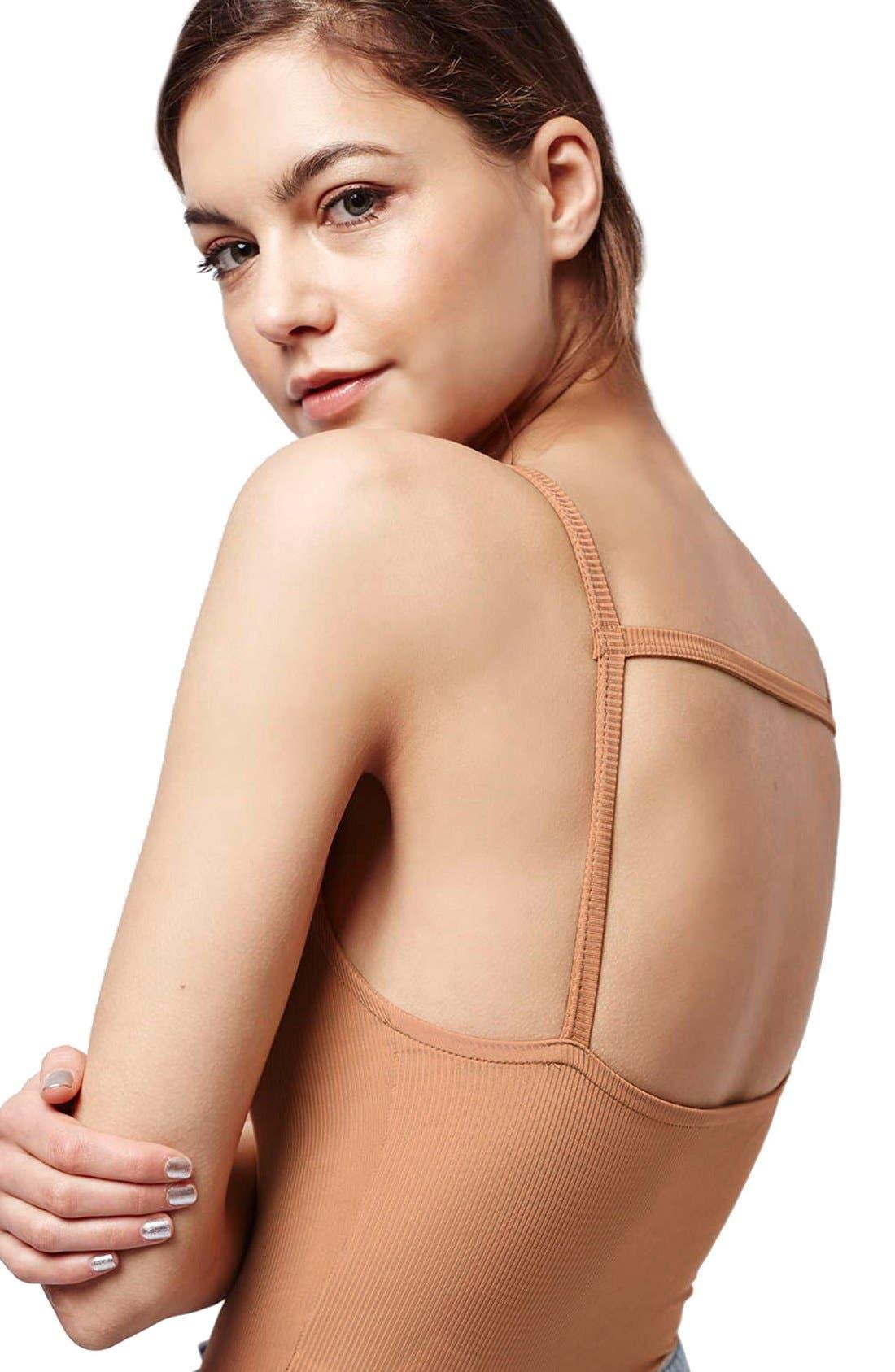 Alternate Image 4  - Topshop Strappy Bodysuit (Regular & Petite)