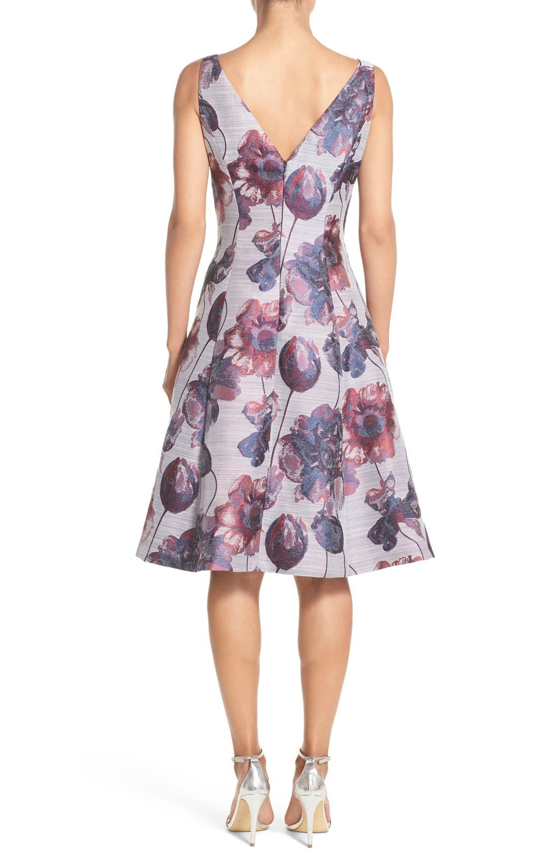 Alternate Image 3  - Adrianna Papell Floral Print Fit & Flare Dress (Regular & Petite)