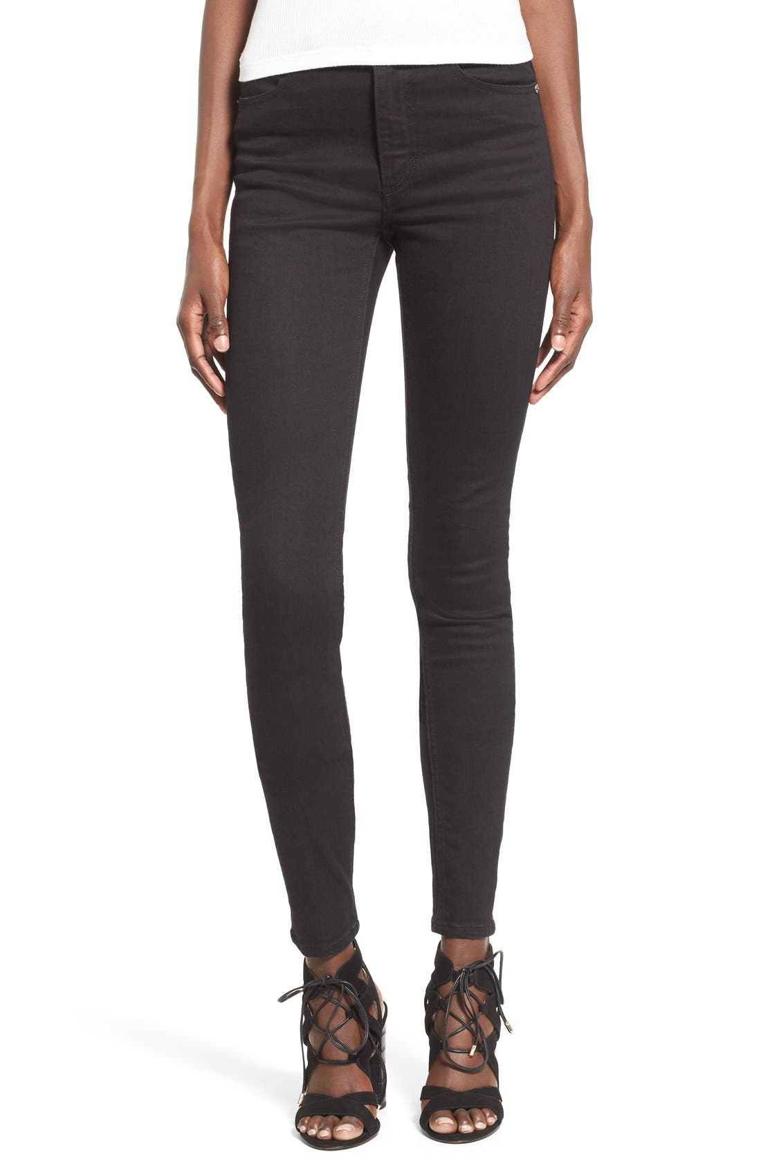 Main Image - Cheap Monday High Rise Skinny Jeans (New Black)