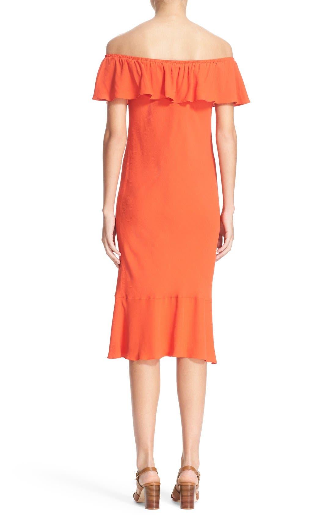 Alternate Image 2  - Veronica Beard 'Oleta' Ruffle Off the Shoulder Dress