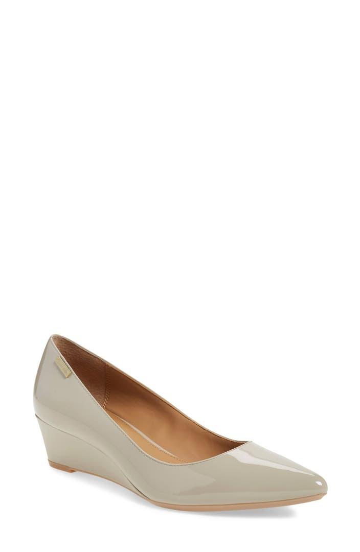 Pointy And Posh Top 65 Amazing Stiletto Nails: Calvin Klein 'Germina' Pointy Toe Wedge (Women)