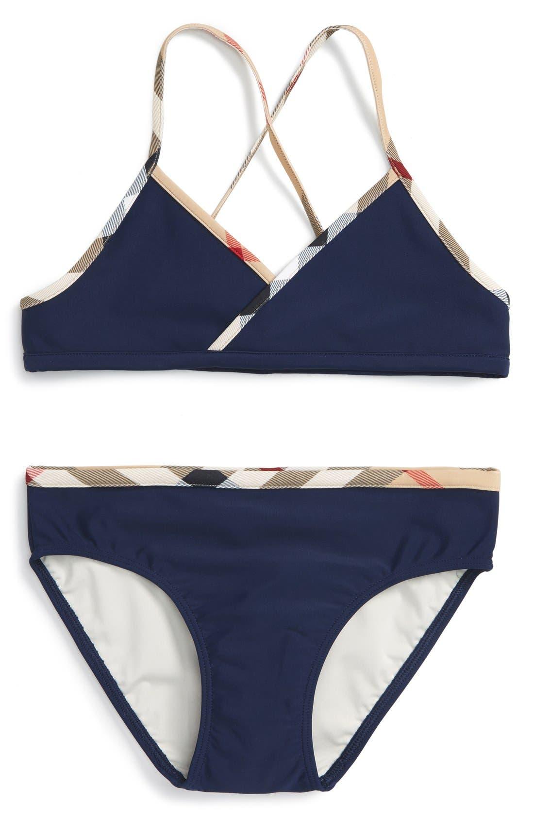 Burberry 'Crosby' Two-Piece Swimsuit (Little Girls & Big Girls)