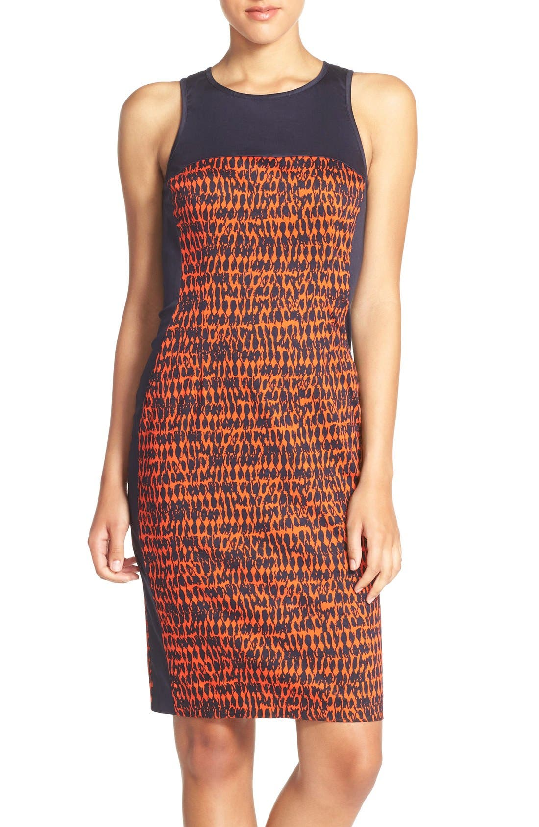 Main Image - French Connection 'Canyon Sands' Sateen Sheath Dress