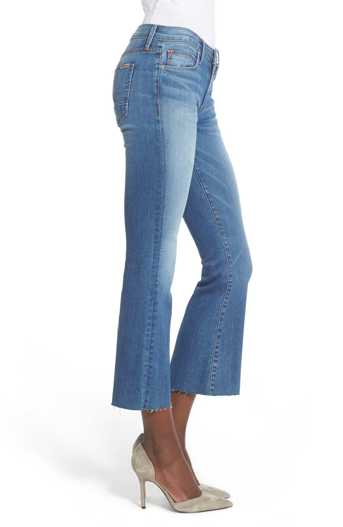 Alternate Image 3  - Hudson Jeans 'Mia' Raw Hem Crop Flare Jeans (Carve)
