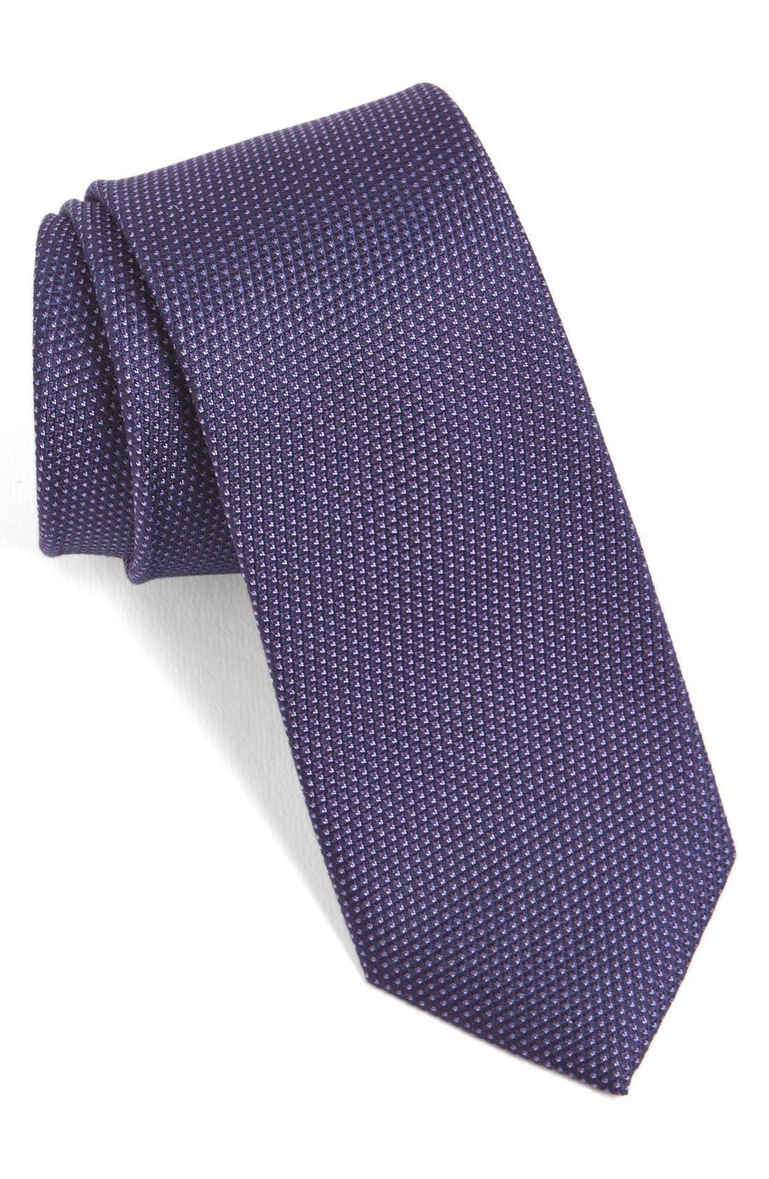 Calibrate 'Madison' Solid Silk Tie