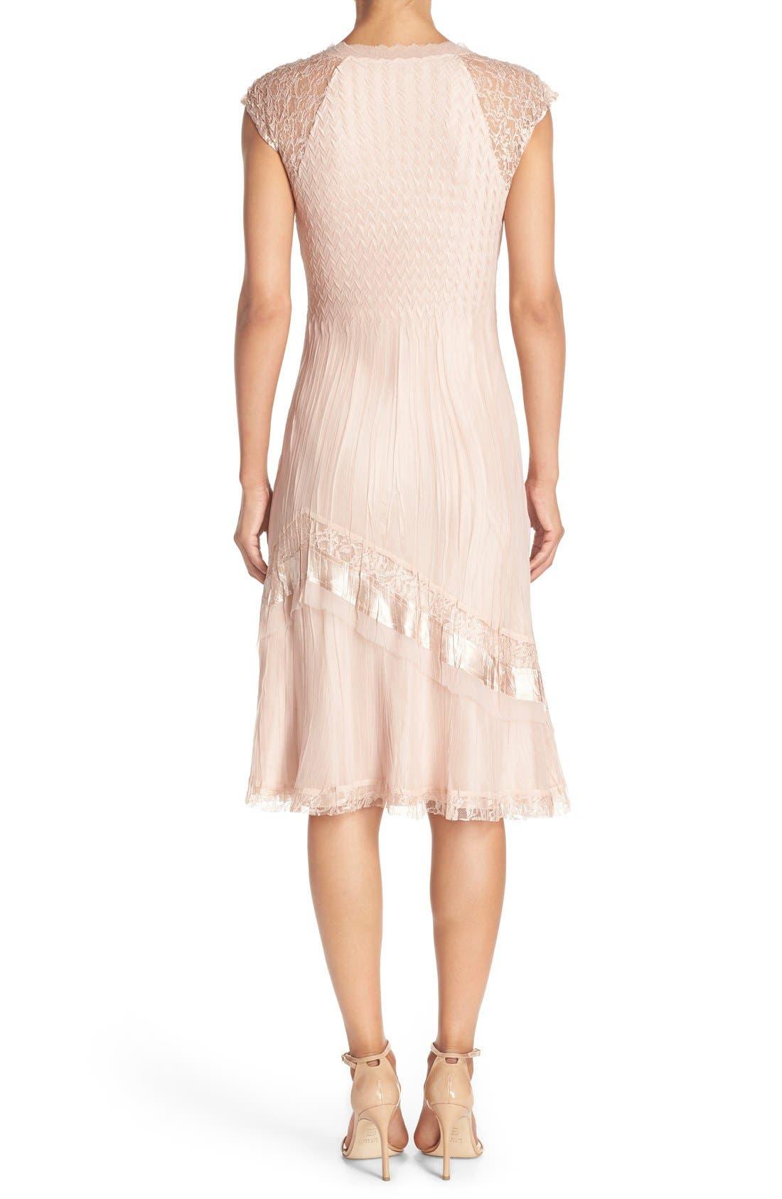 Alternate Image 2  - Komarov Mixed Media A-Line Dress