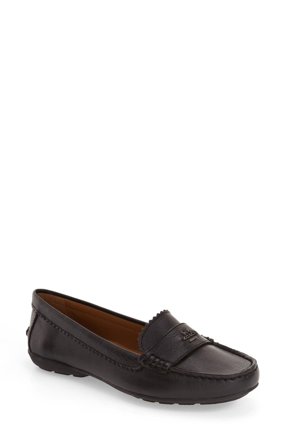 COACH 'Odette' Moccasin Loafer (Women)