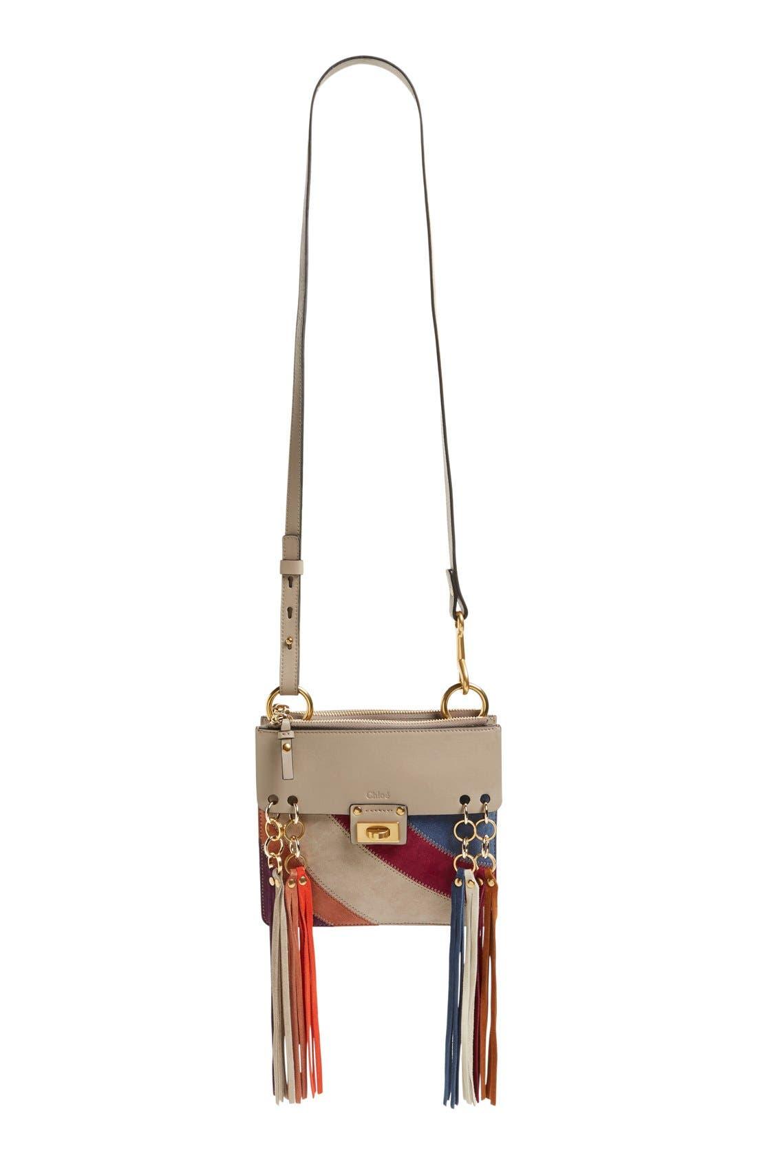 Alternate Image 3  - Chloé 'Small Jane' Suede Fringe Patchwork Leather Crossbody Bag