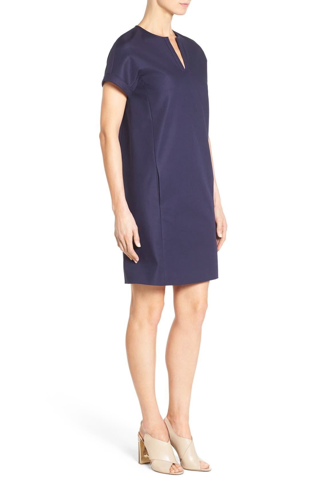 Alternate Image 3  - Nordstrom Collection Stretch Poplin Shift Dress
